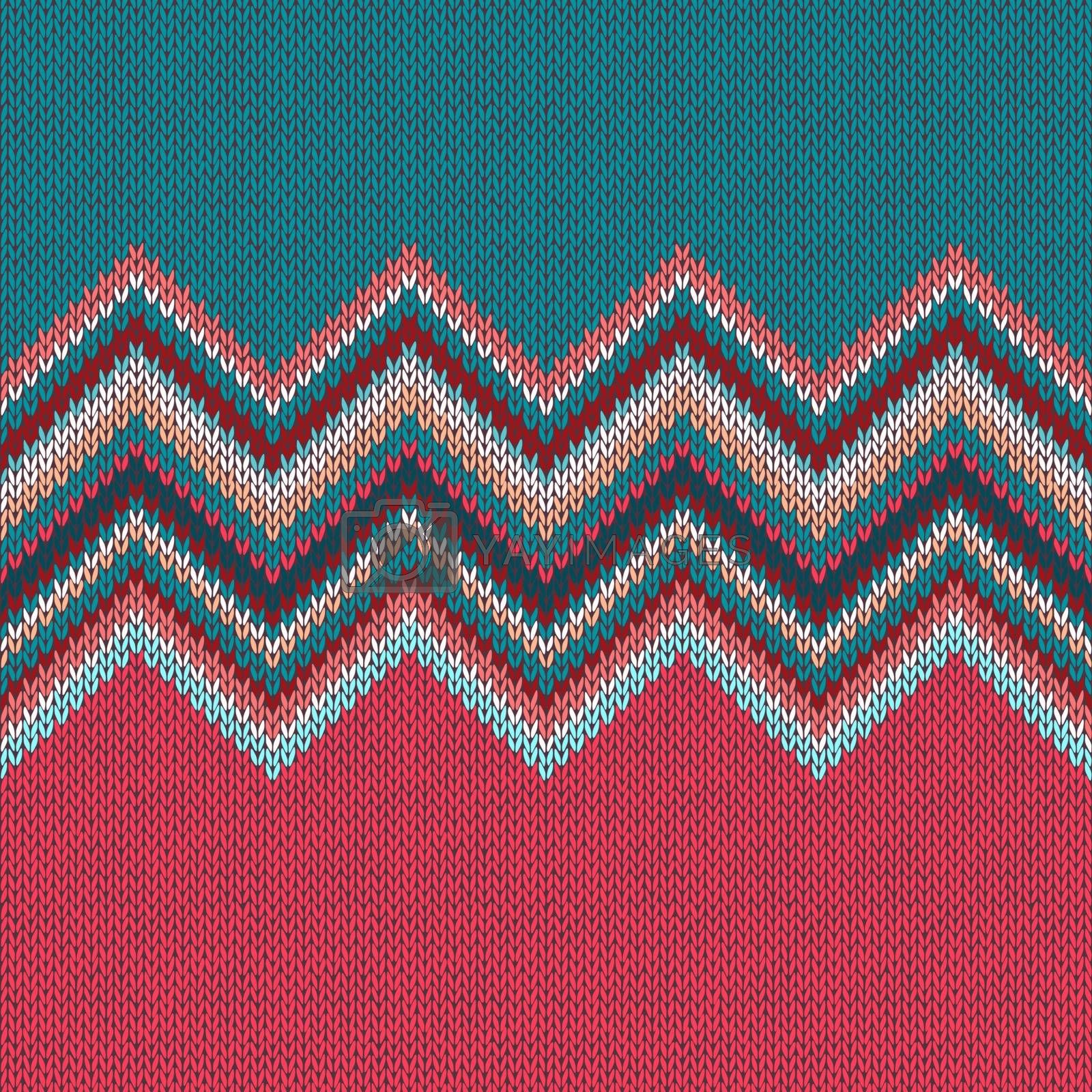 Knitted seamless pattern. Classic Knitwear Fashion consept background.