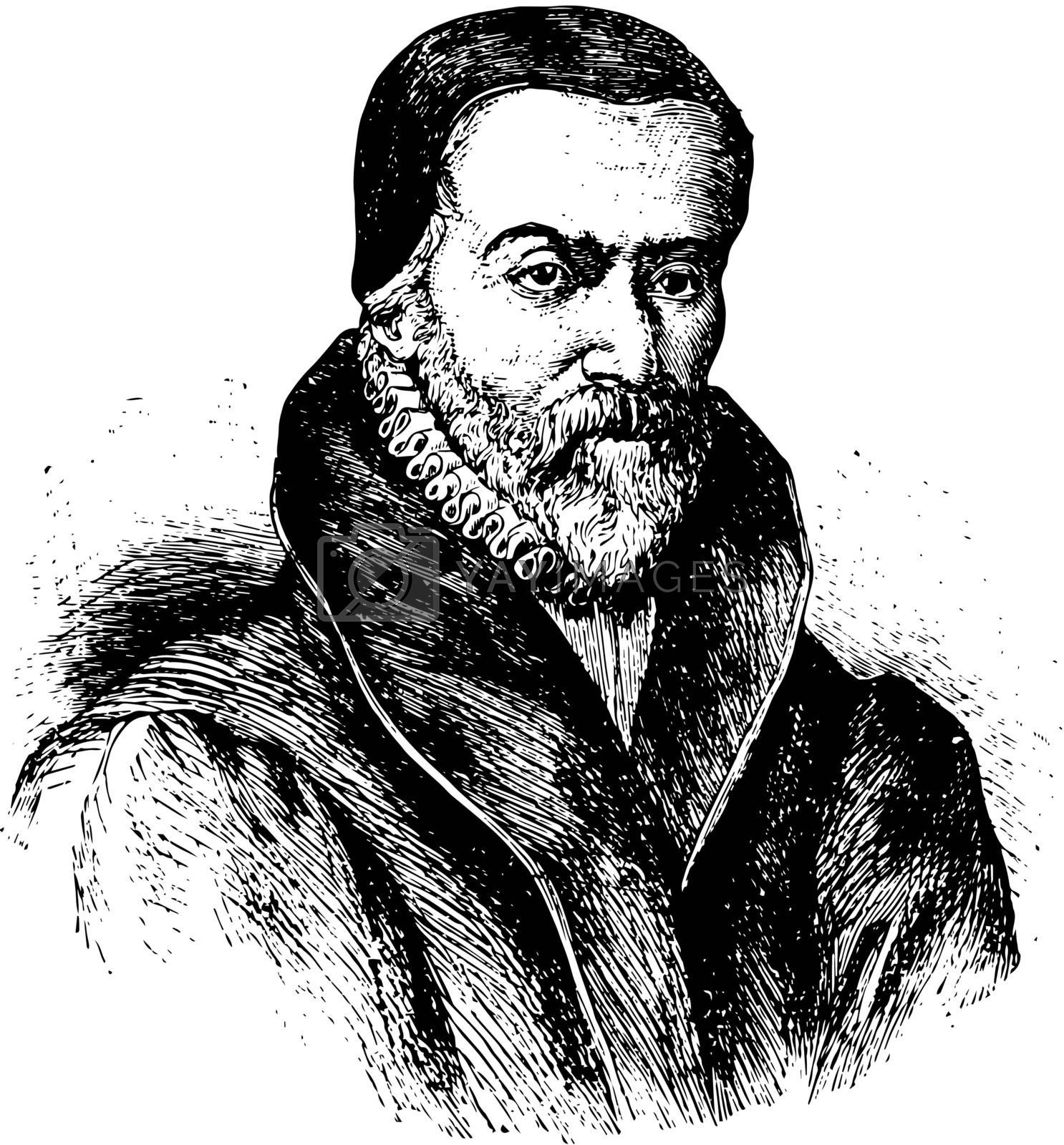 William Tyndale, vintage illustration by Morphart
