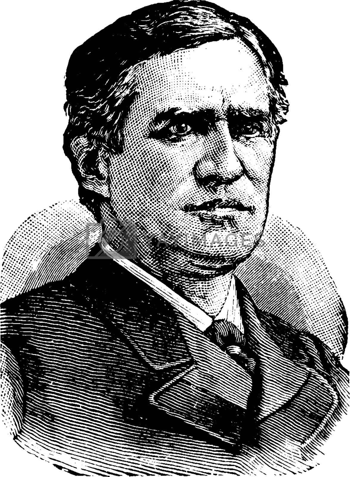 Thomas F. Bayard, vintage illustration by Morphart