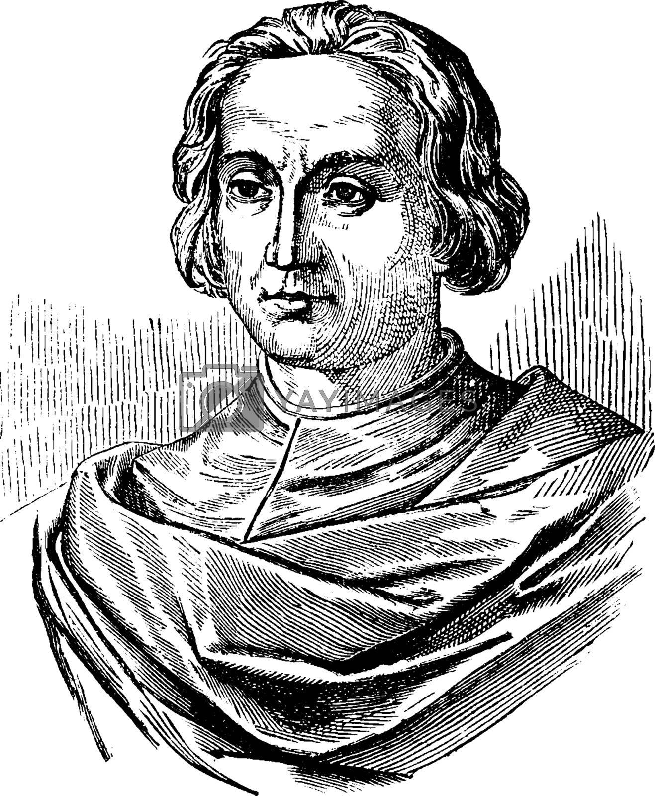 Christopher Columbus vintage illustration.  by Morphart