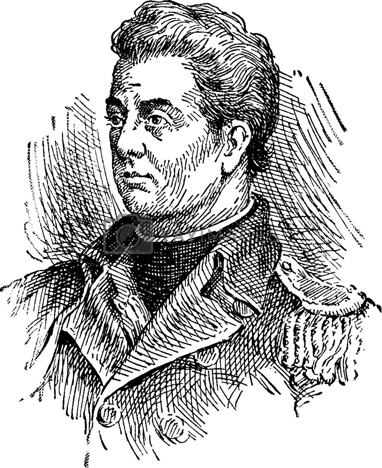 Ethan Allen, vintage illustration by Morphart
