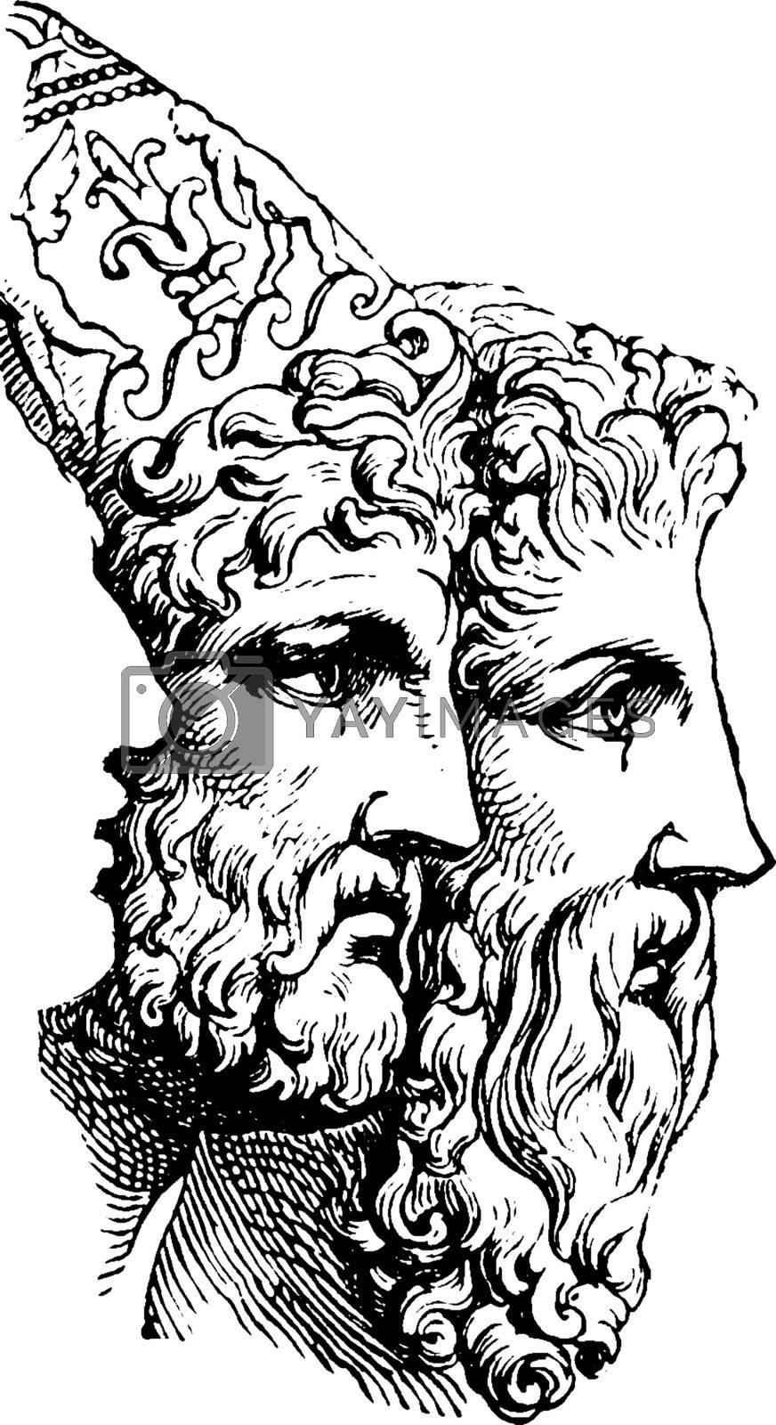 Agamemnon, vintage illustration by Morphart