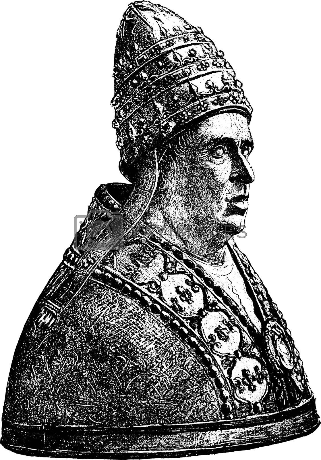 Alexander VI, vintage illustration by Morphart