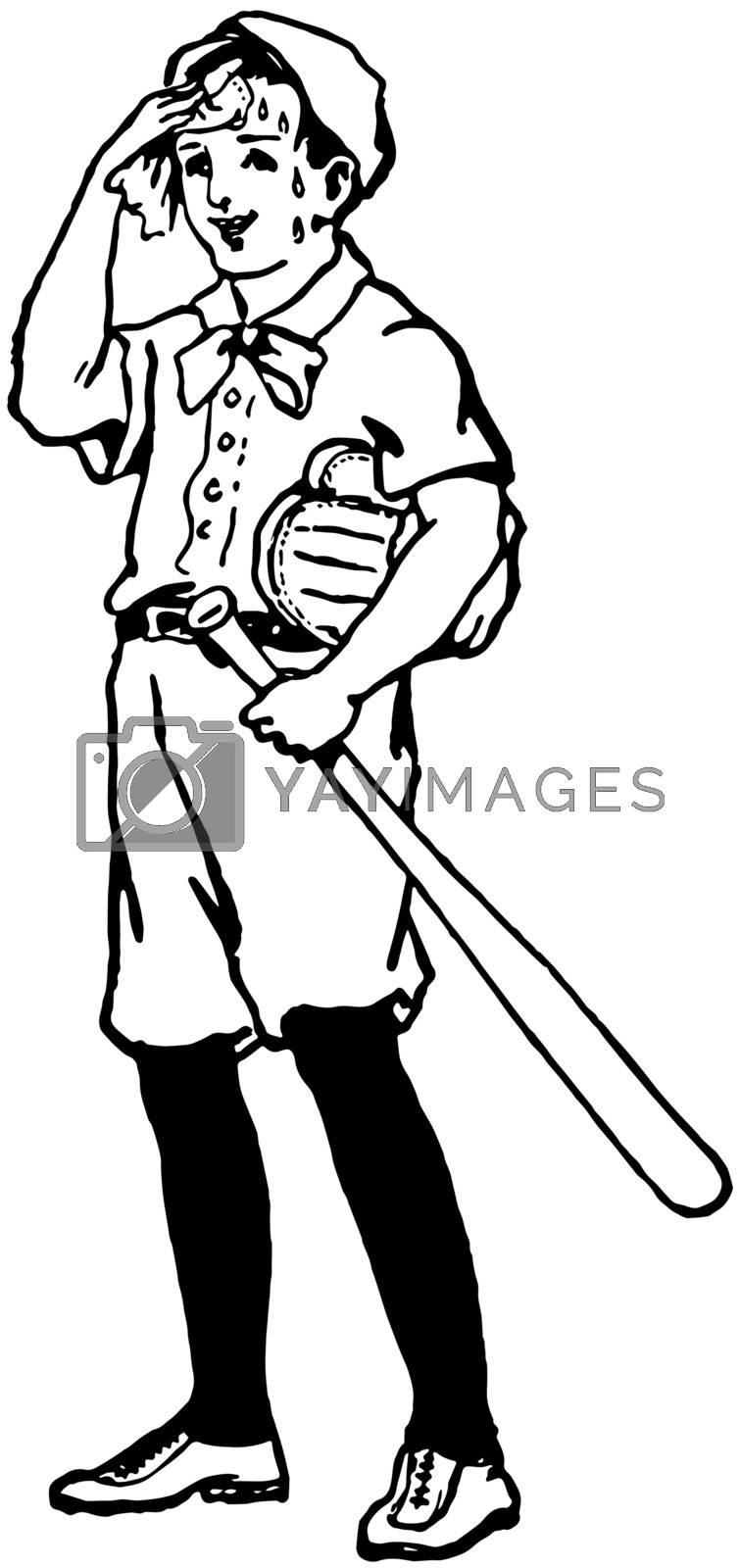 Batter vintage illustration.  by Morphart