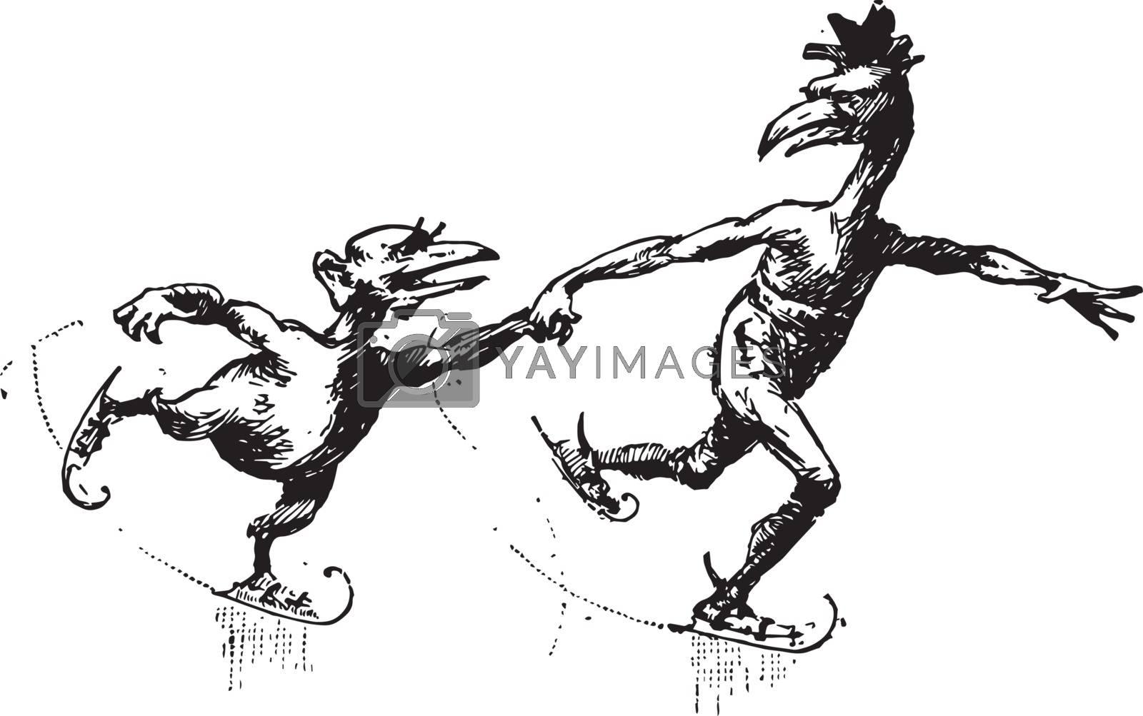 Thirteen Boys, vintage illustration by Morphart