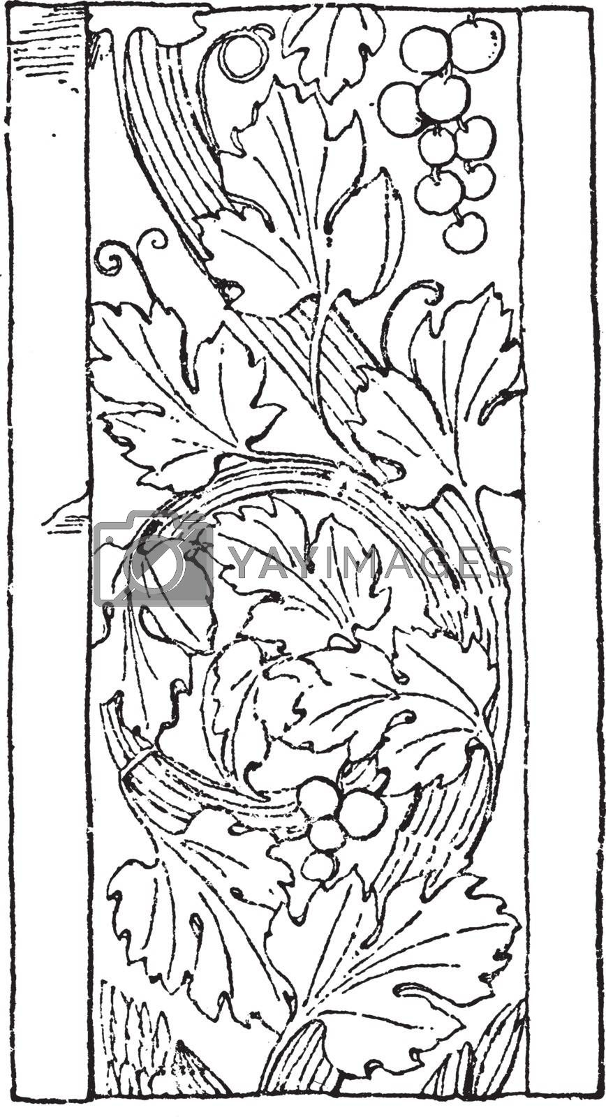 Renaissance Ornament Vine was used as a design on an Italian pil by Morphart
