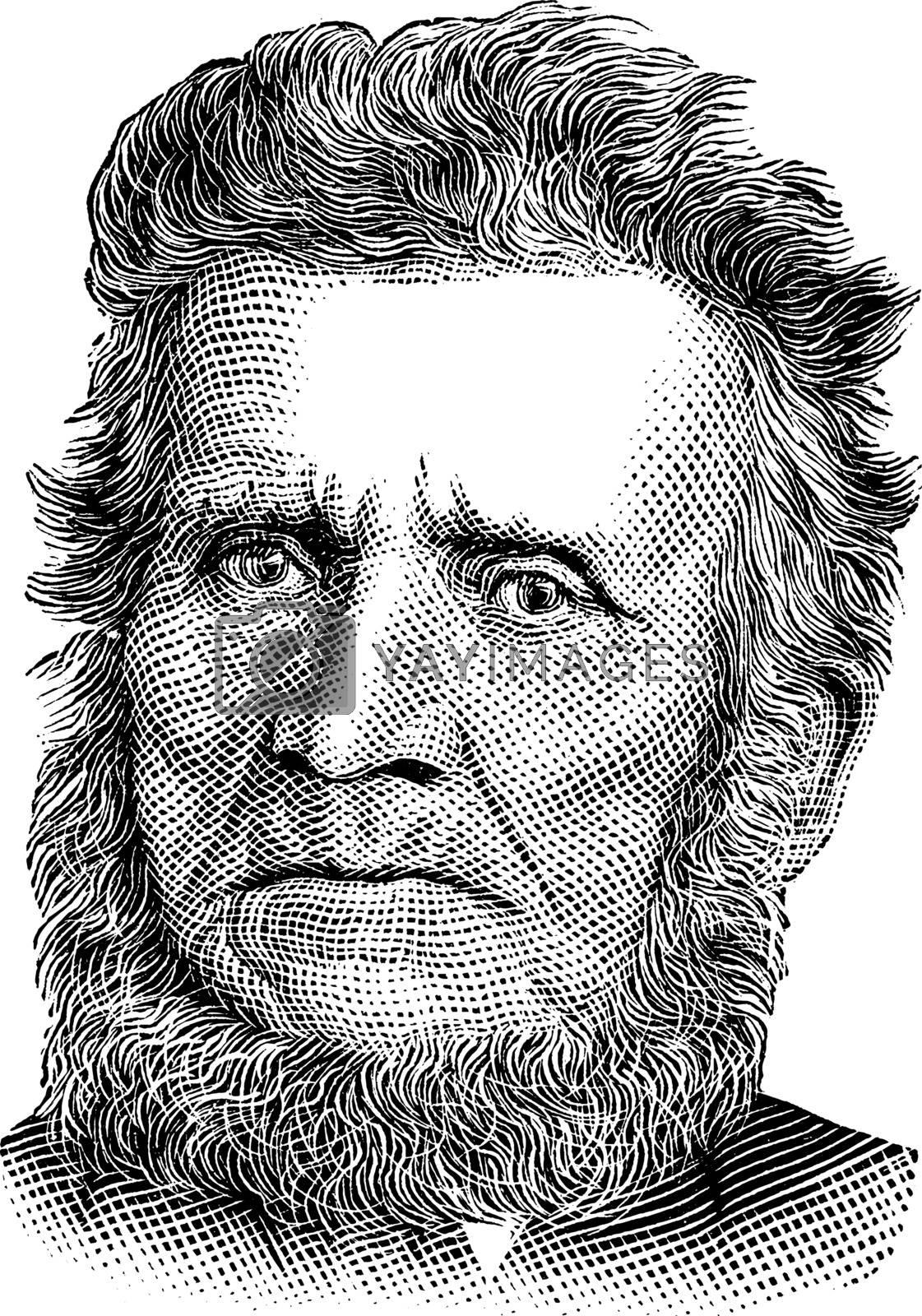 John Brown, vintage illustration by Morphart