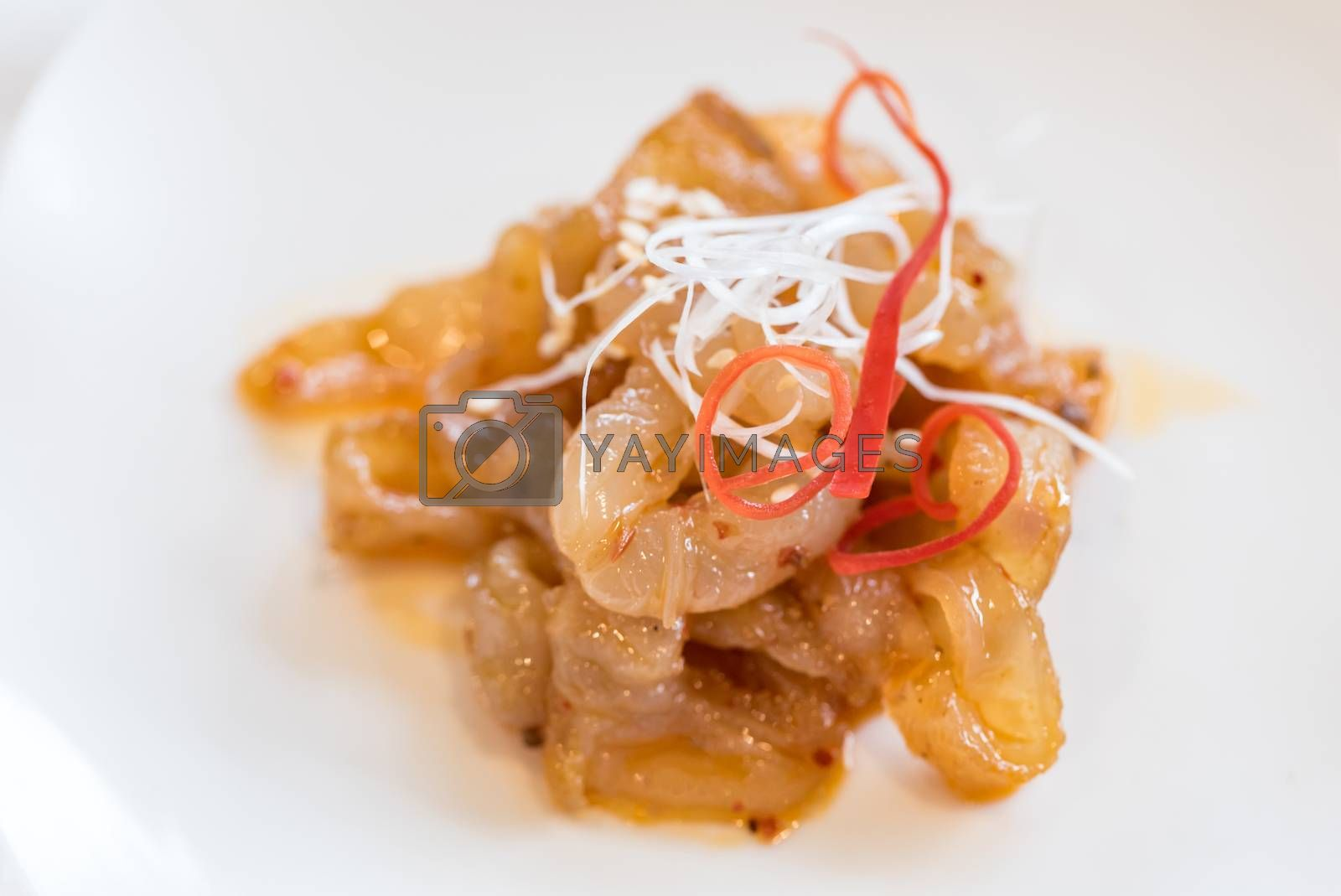 Chinese seafood Jellyfish Spicy salad - Chinese groumet cuisine