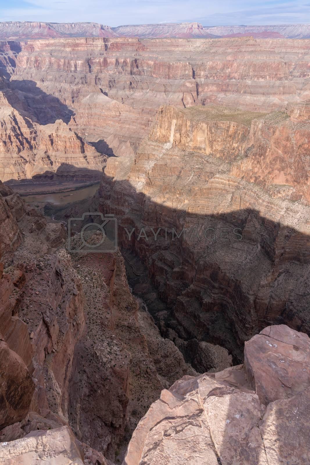 West rim of Grand Canyon in Arizona USA