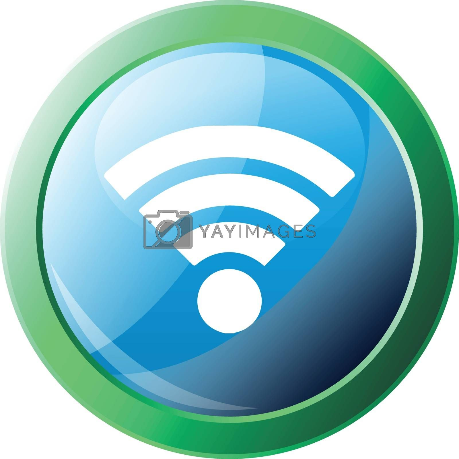 Wi-Fi vector icon illustration on a white background
