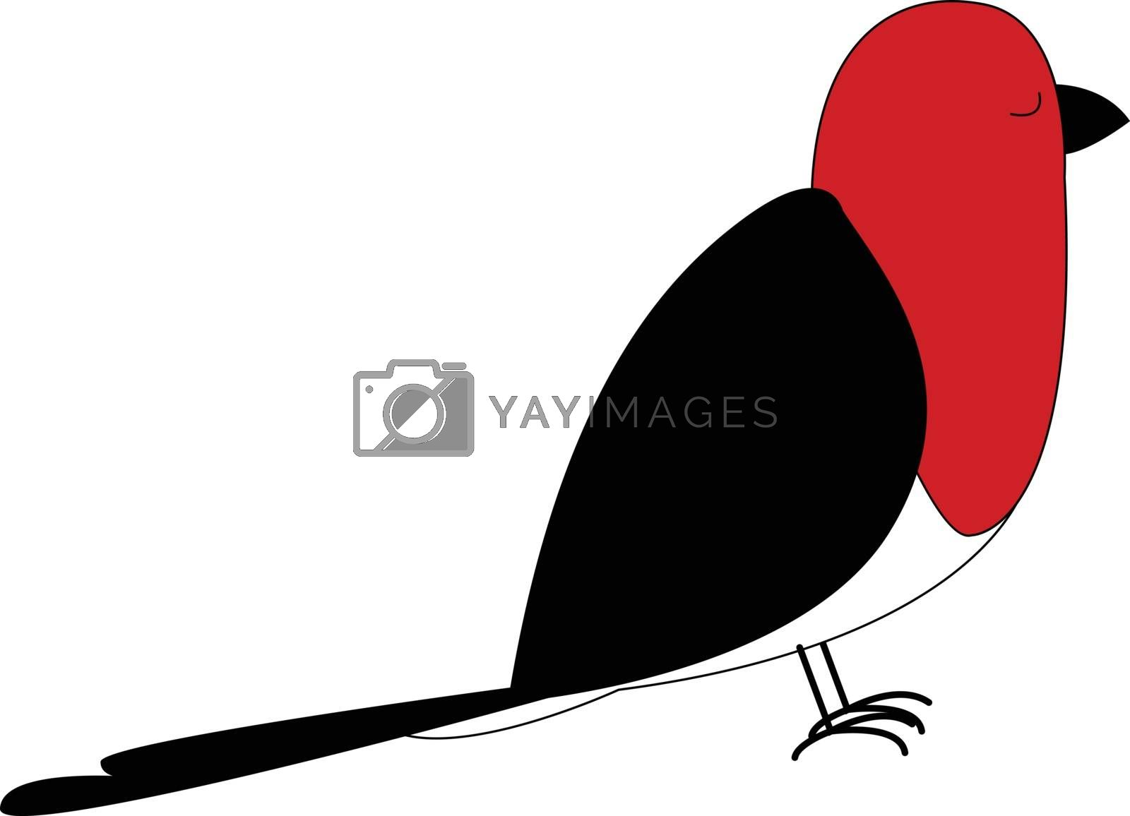 Royalty free image of Cartoon red bird set on isolated white background viewed from th by Morphart