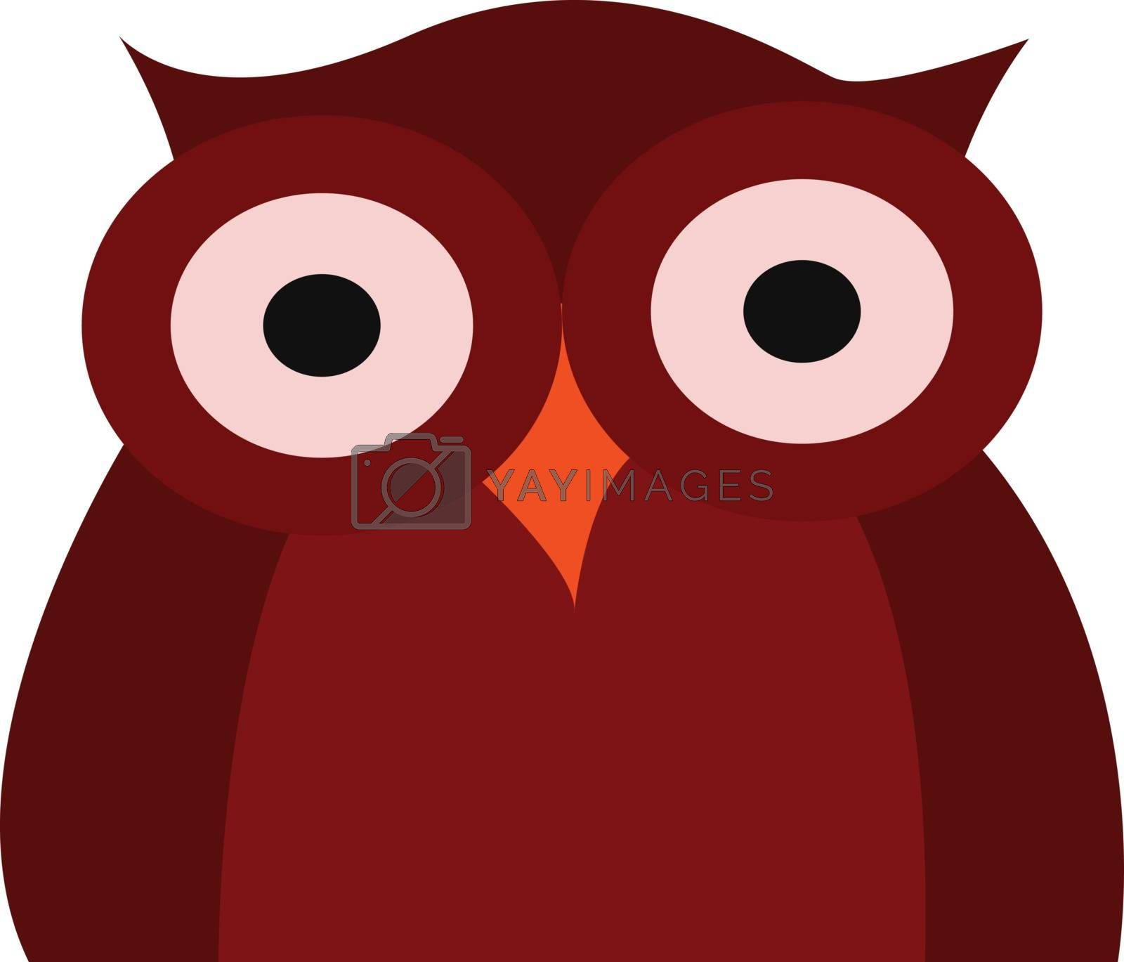 Royalty free image of Clipart of a dark red owl vector or color illustration by Morphart