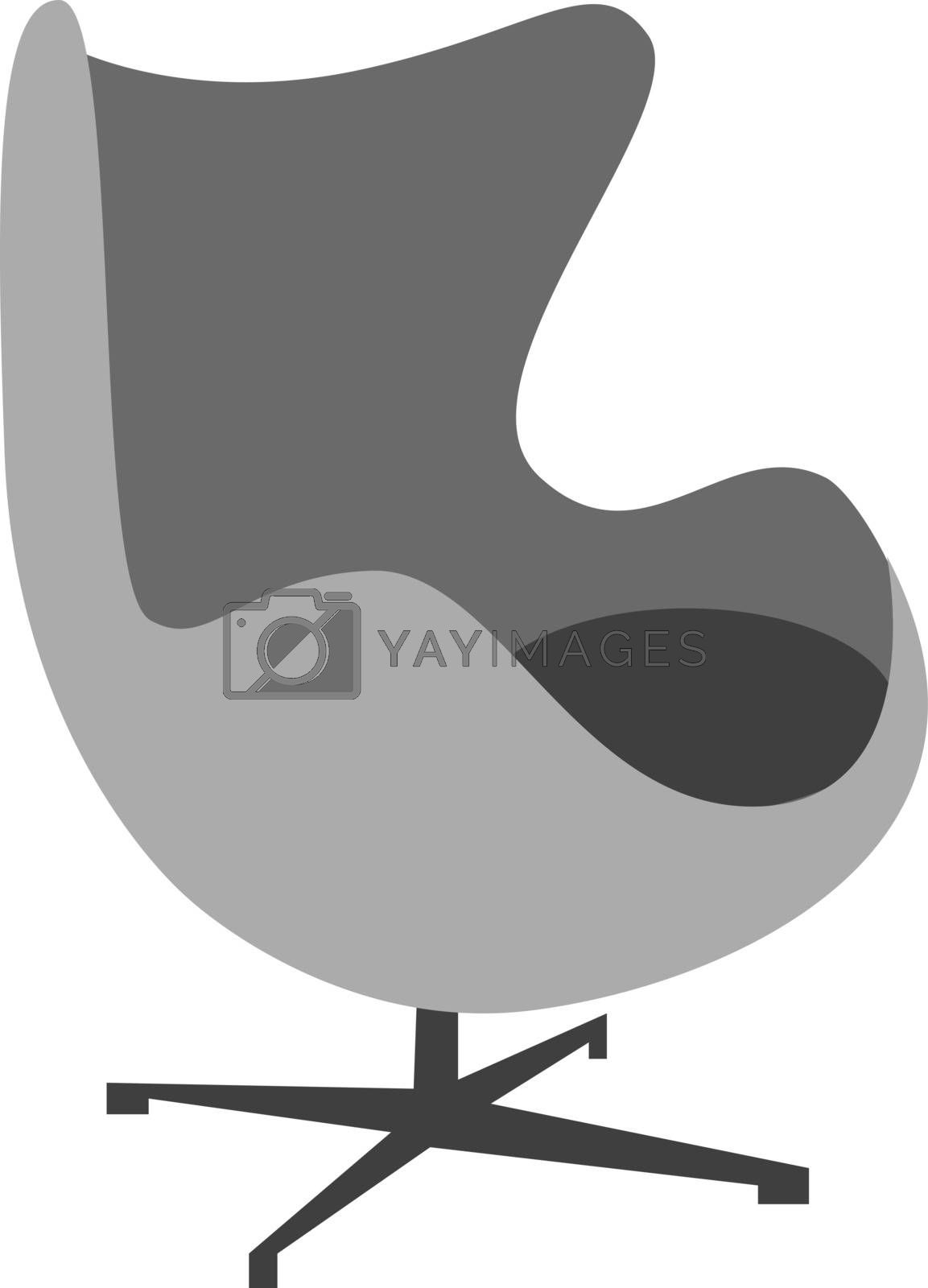 Royalty free image of Furniture/Drawing of a ball chair vector or color illustration by Morphart