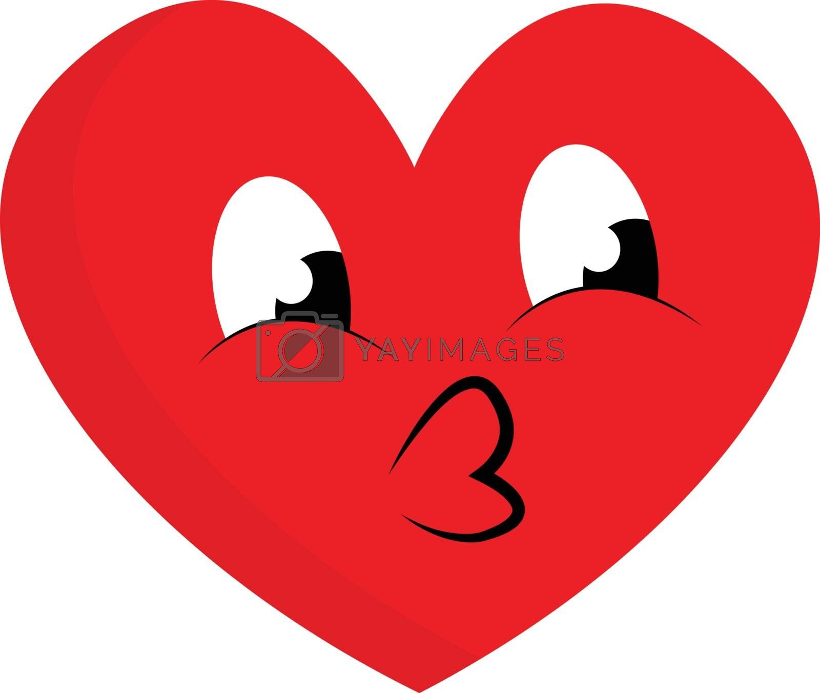 Royalty free image of Emoji of a cute red heart vector or color illustration by Morphart