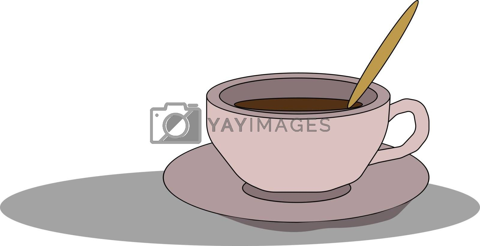 Royalty free image of Coffee icon/Evening coffee time/Coffee cup and saucer vector or  by Morphart