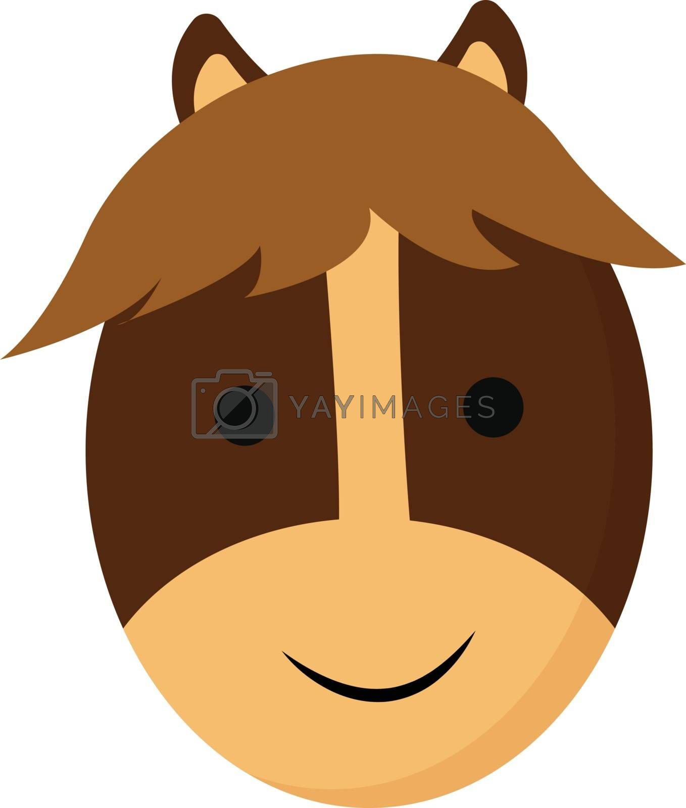 Royalty free image of Cartoon smiling face of a brown horse vector or color illustrati by Morphart