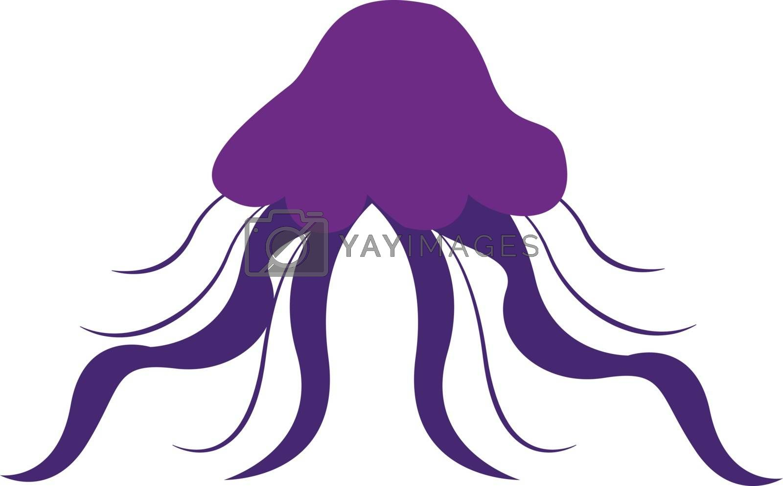 Royalty free image of Clipart of a violet-colored jellyfish vector or color illustrati by Morphart