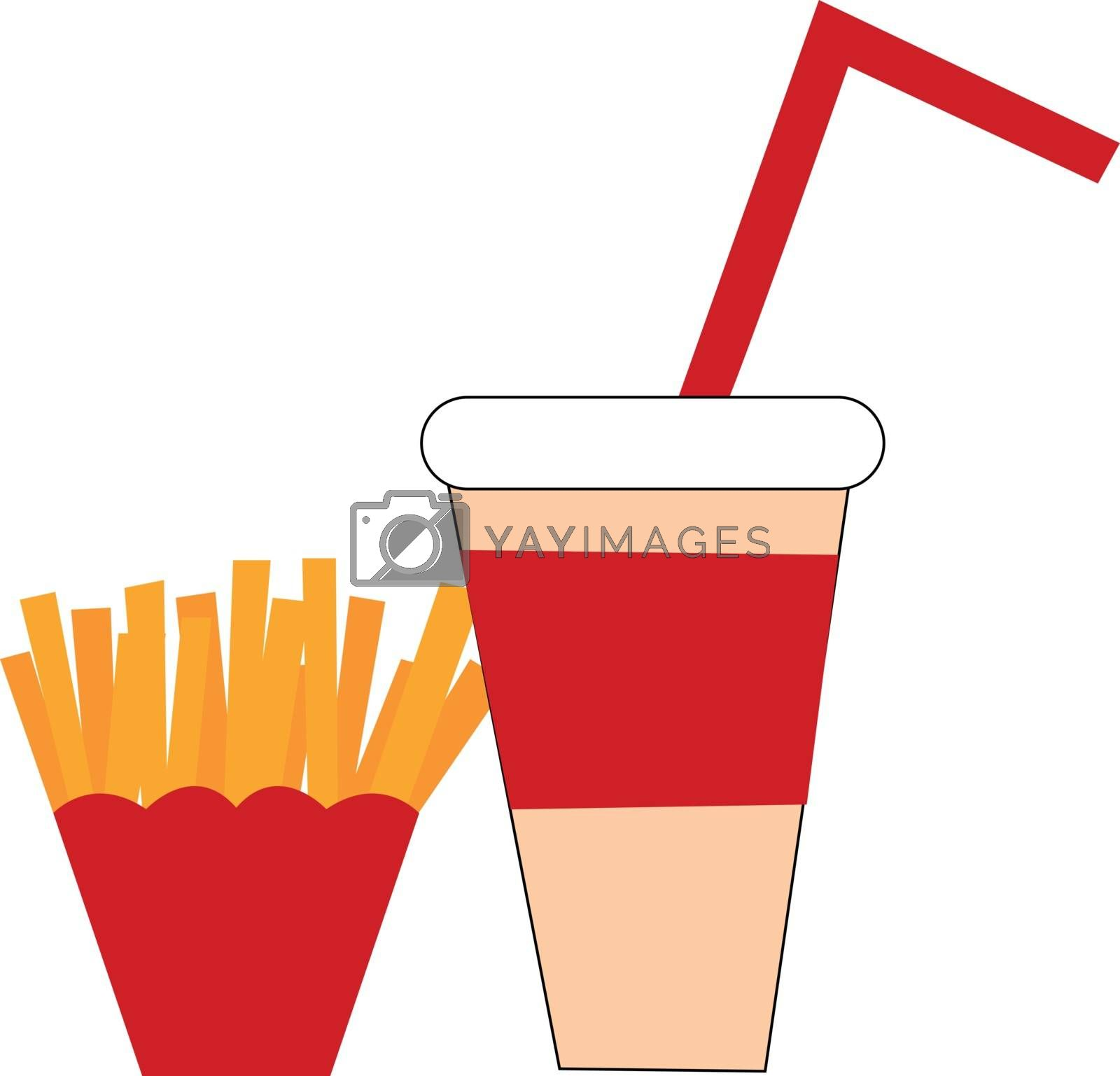 Royalty free image of Clipart of fastfood vector or color illustration by Morphart