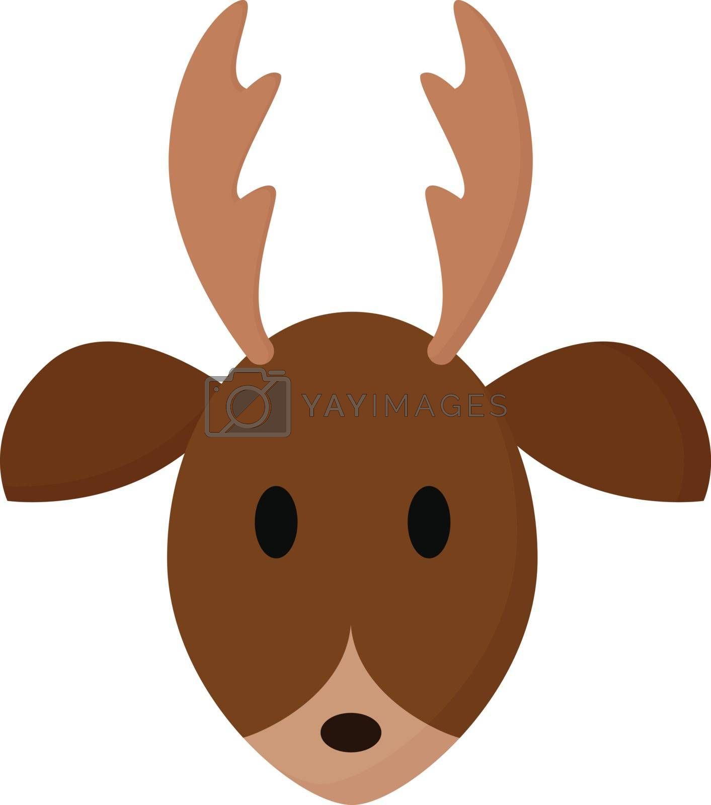 Royalty free image of Clipart of the face of a deer vector or color illustration by Morphart