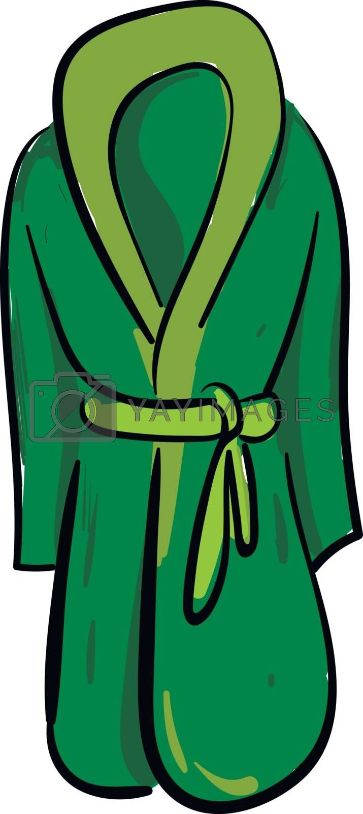 Royalty free image of Clipart of a showcase green-colored bathrobe over white backgrou by Morphart