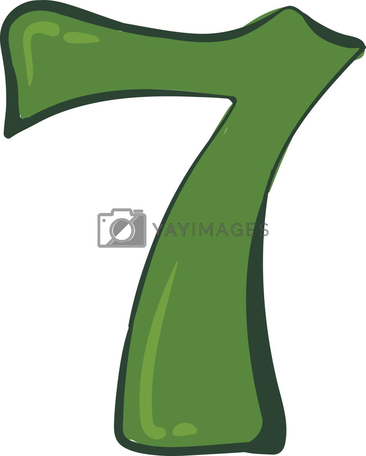 Royalty free image of Clipart number-7 in green color vector or color illustration by Morphart