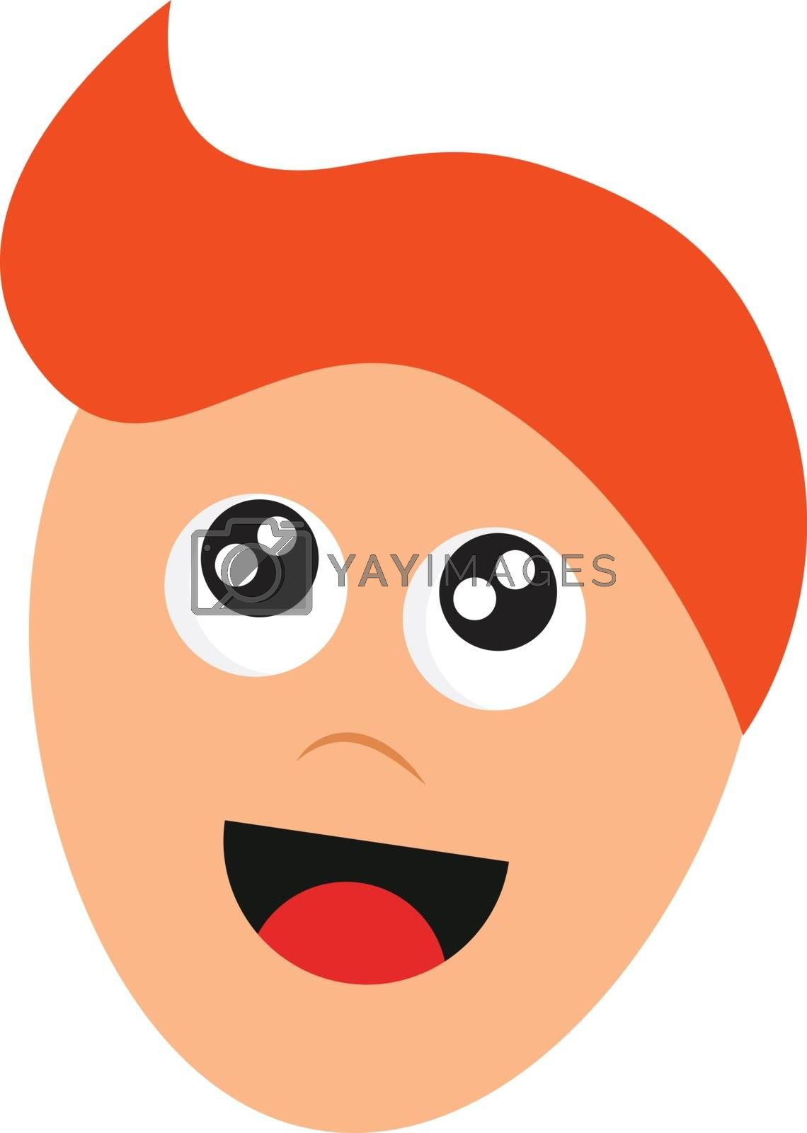 Royalty free image of Cartoon face of a boy with orange hair vector or color illustrat by Morphart