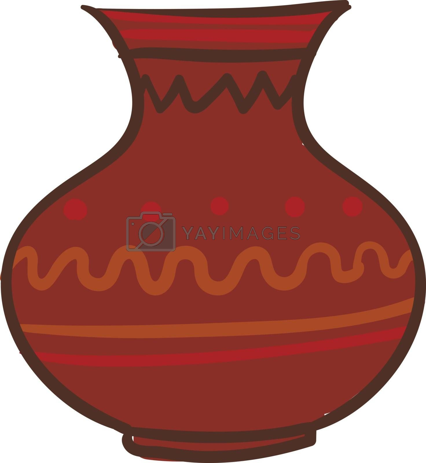 Royalty free image of Painting of a large brown earthen jug vector or color illustrati by Morphart