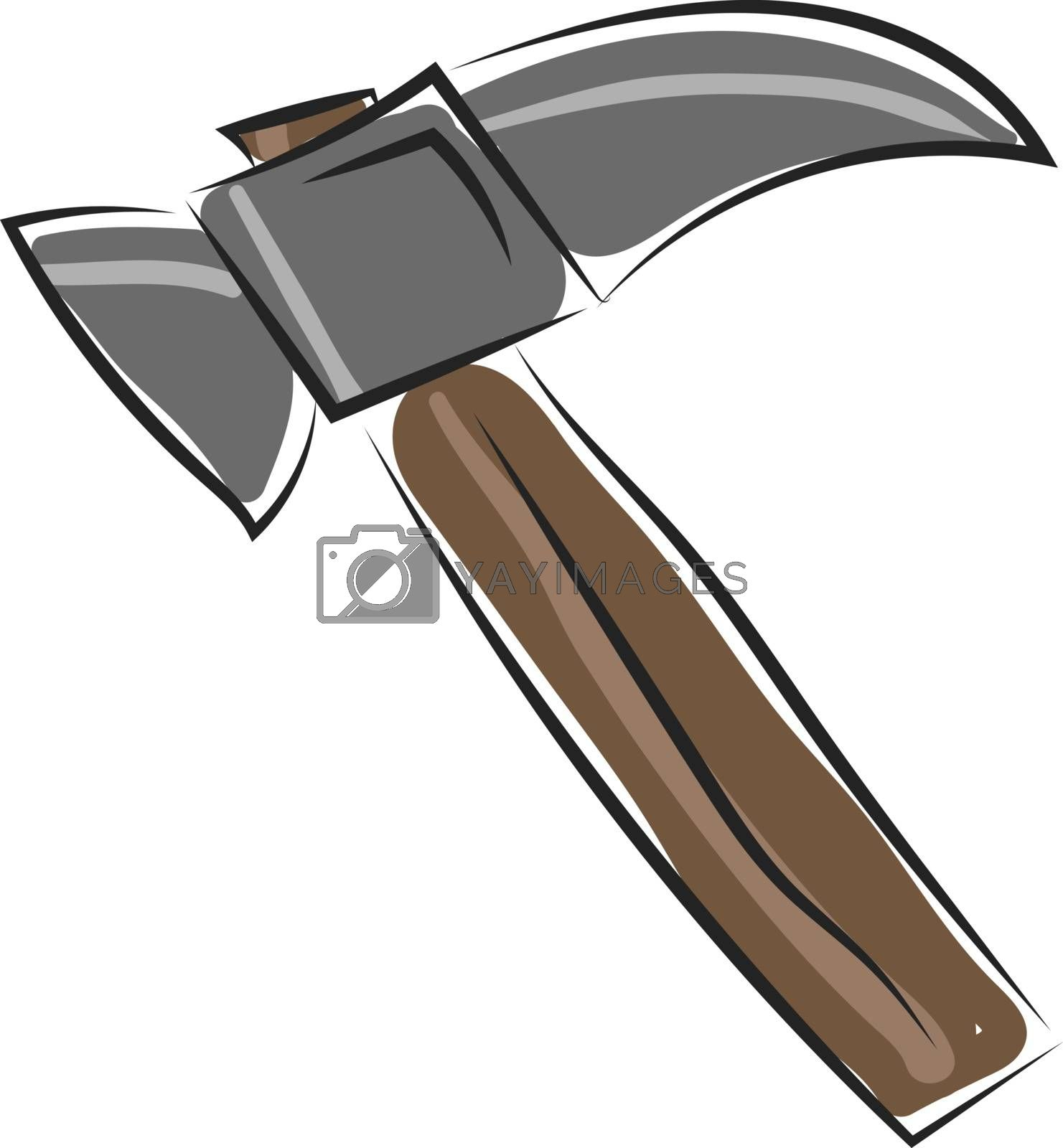 Royalty free image of Clipart of a brown hammer/Tool/Implement vector or color illustr by Morphart