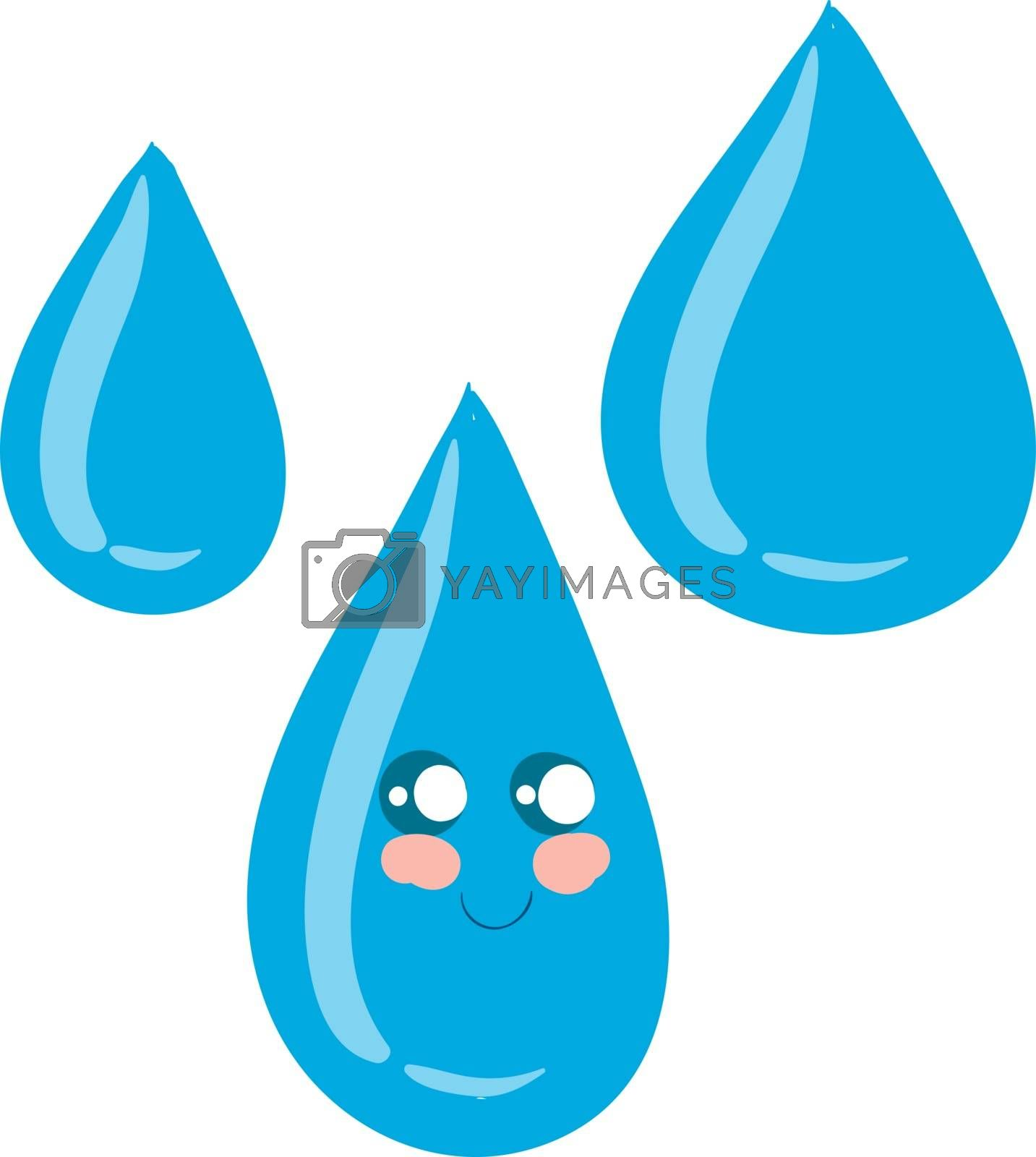 Royalty free image of Emoji of a cute water drop vector or color illustration by Morphart