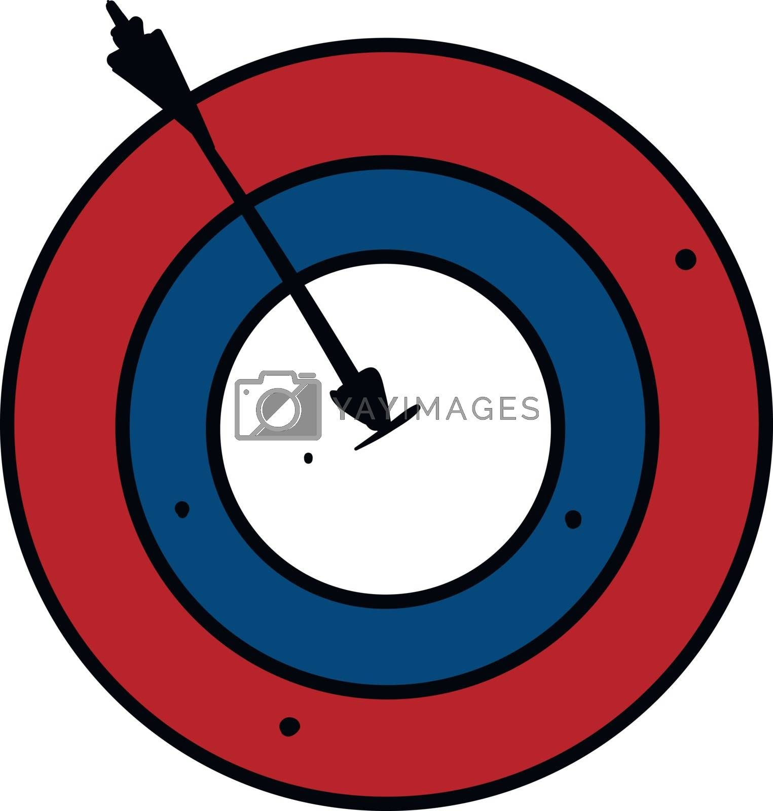 Royalty free image of Clipart of a bullseye vector or color illustration by Morphart