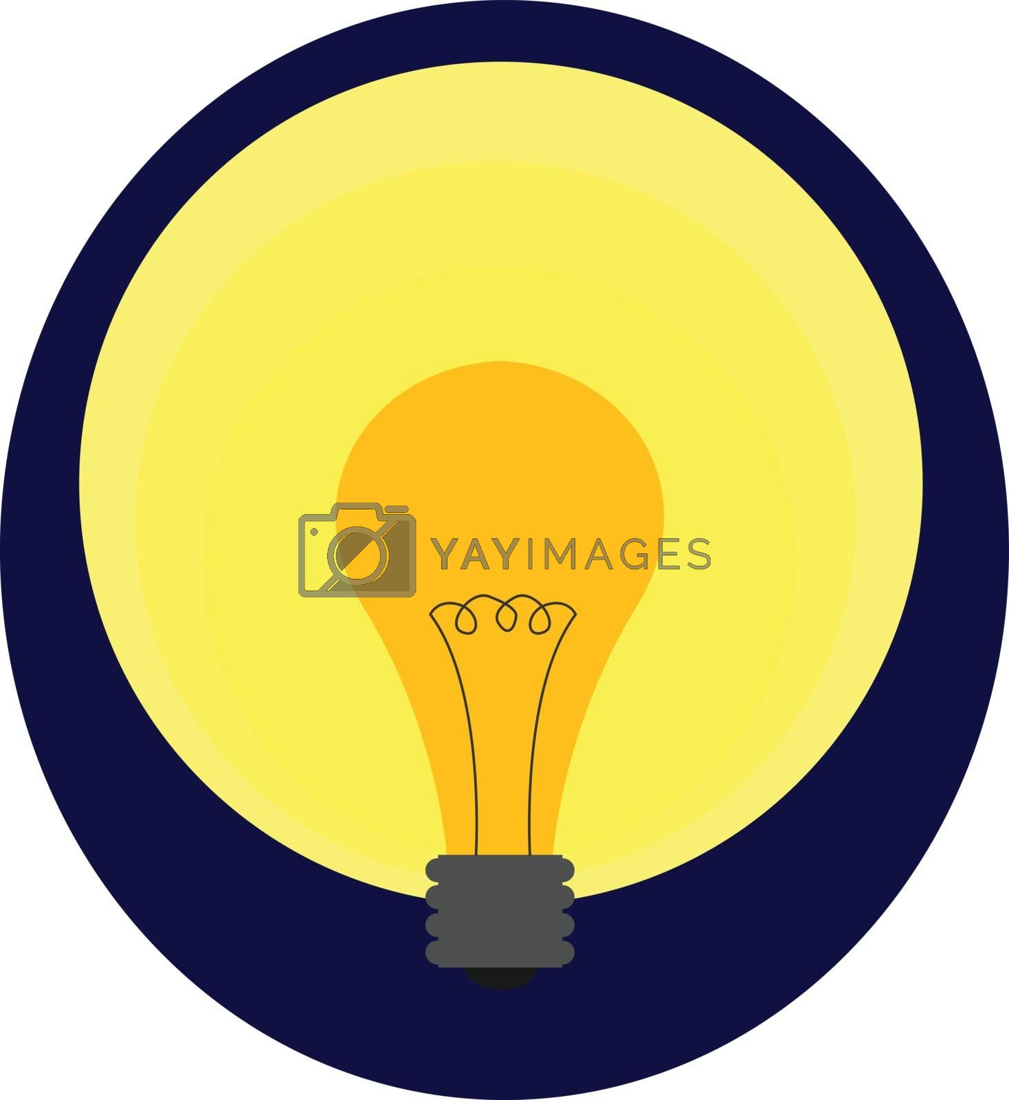 Royalty free image of Portrait of a yellow light bulb over blue background vector or c by Morphart