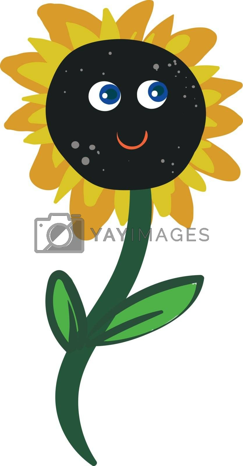 Royalty free image of Cartoon funny happy sunflower vector or color illustration by Morphart