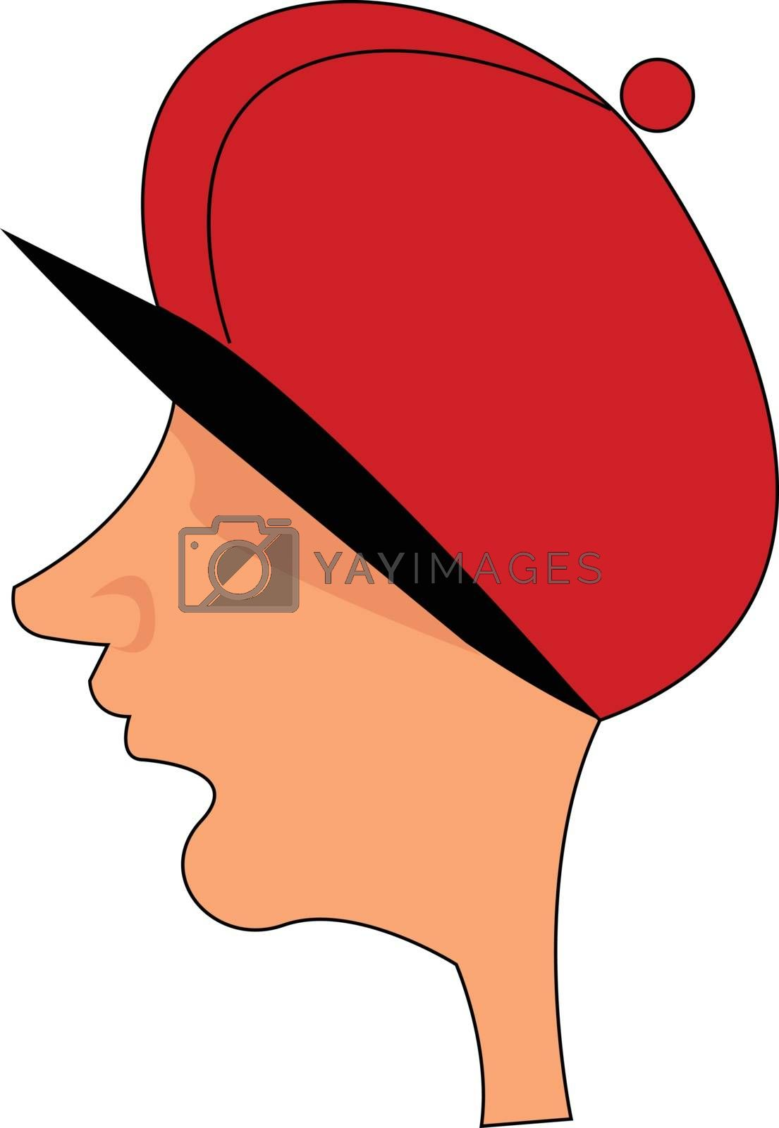 Royalty free image of Cartoon picture of a man's head set on isolated white background by Morphart