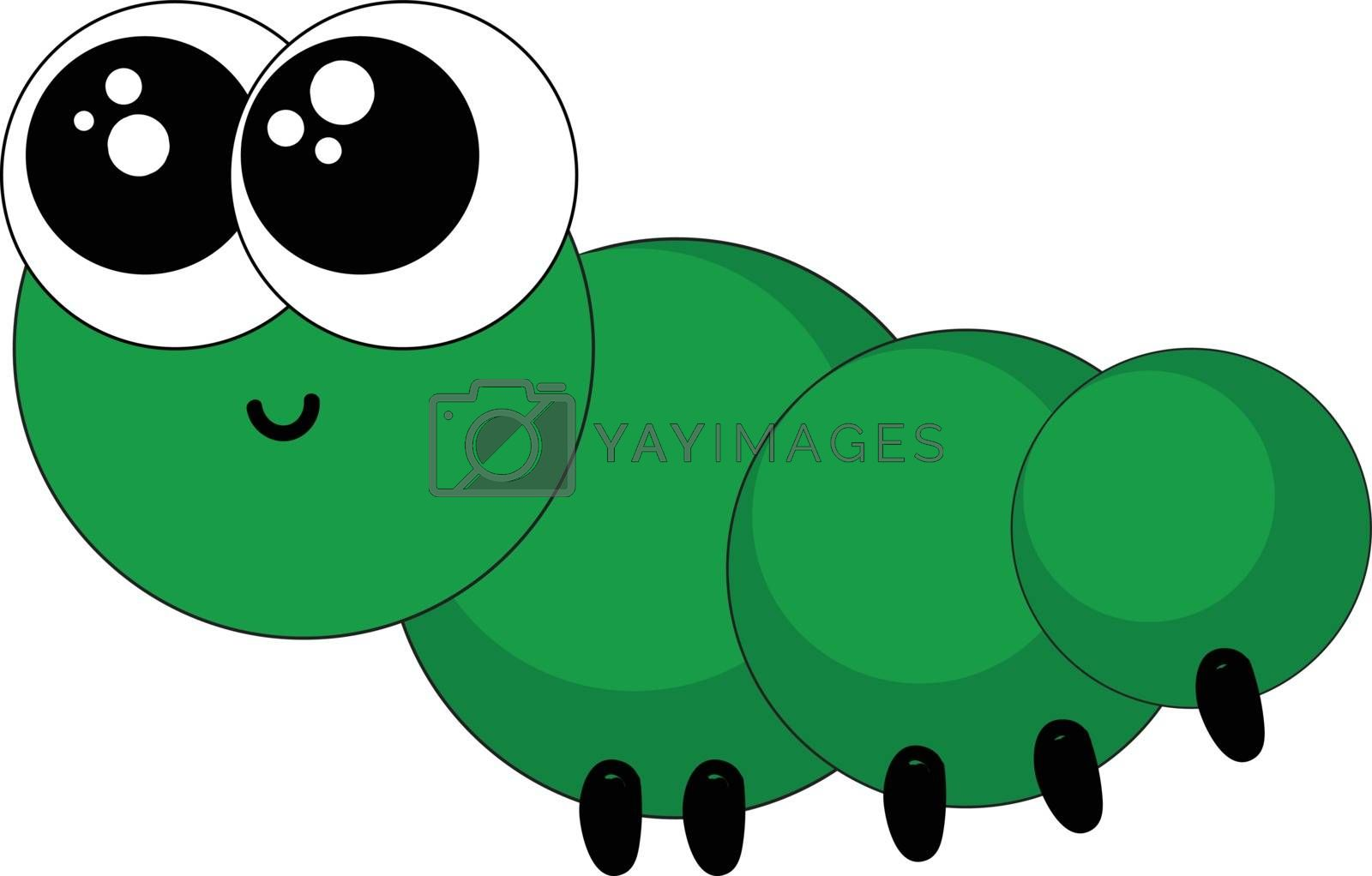 Royalty free image of Emoji of a smiling dreamy worm vector or color illustration by Morphart
