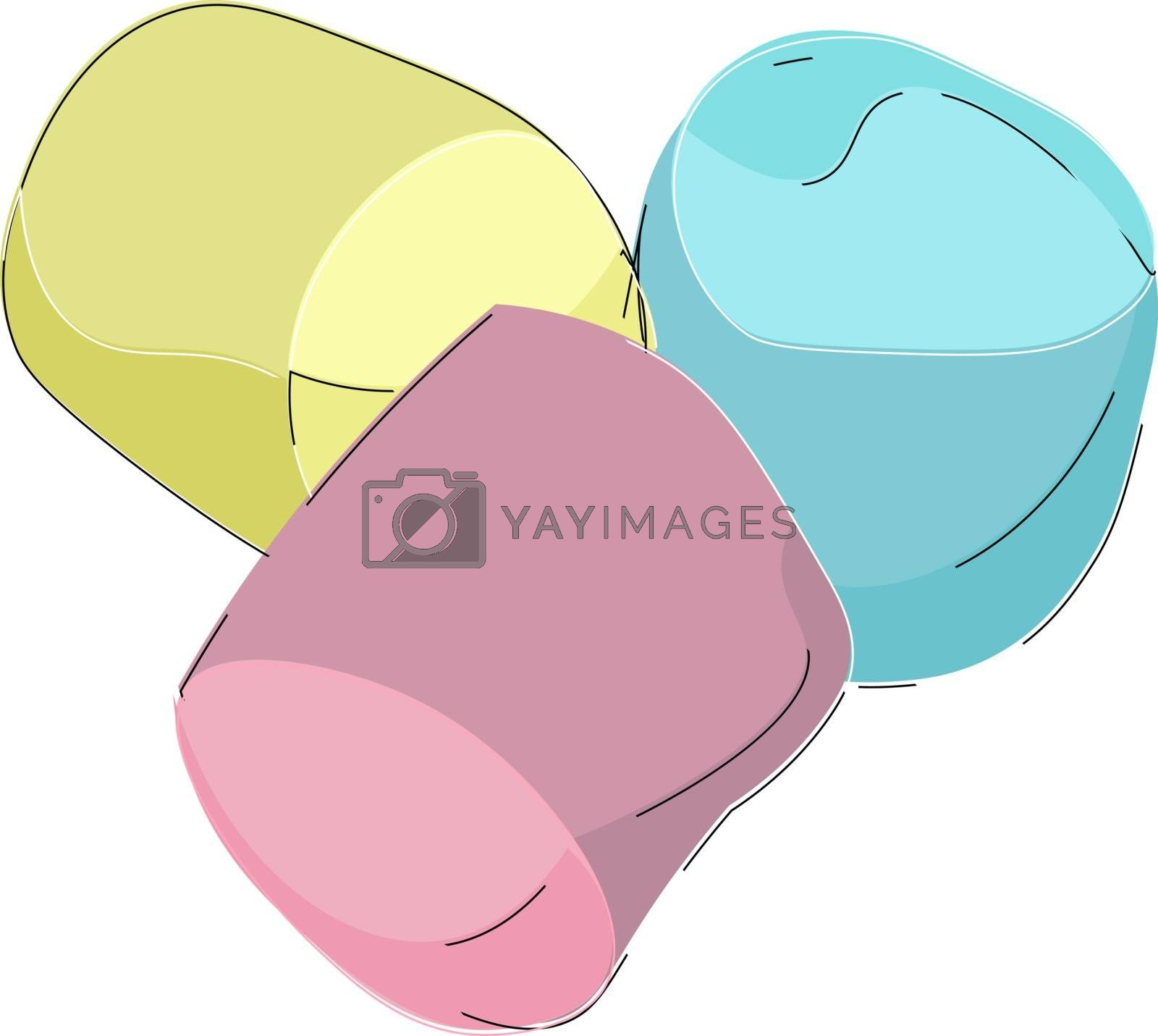 Royalty free image of Cartoon picture of three marshmallows vector or color illustrati by Morphart