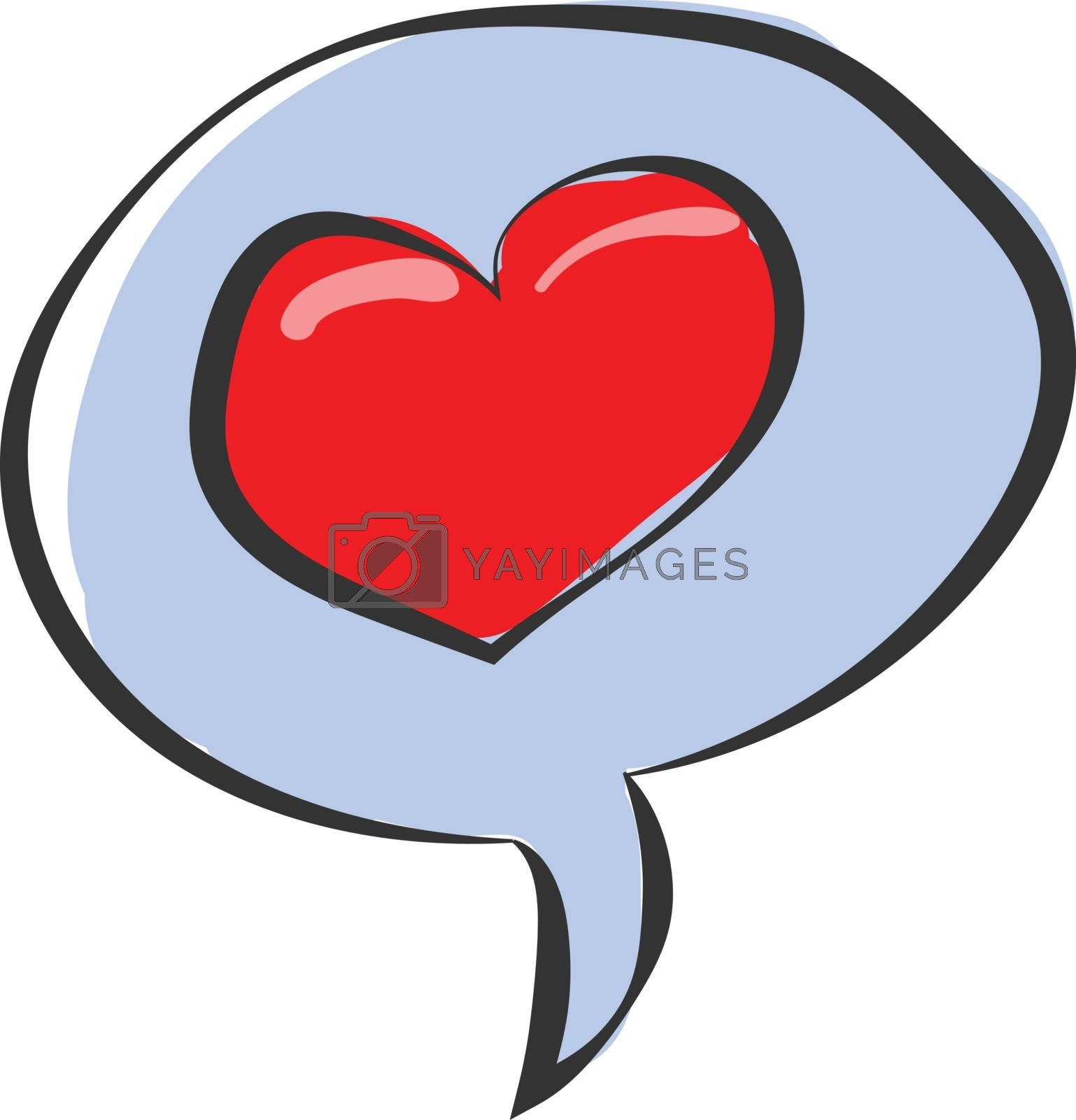 Royalty free image of Clipart of a speech bubble with a red heart vector or color illu by Morphart