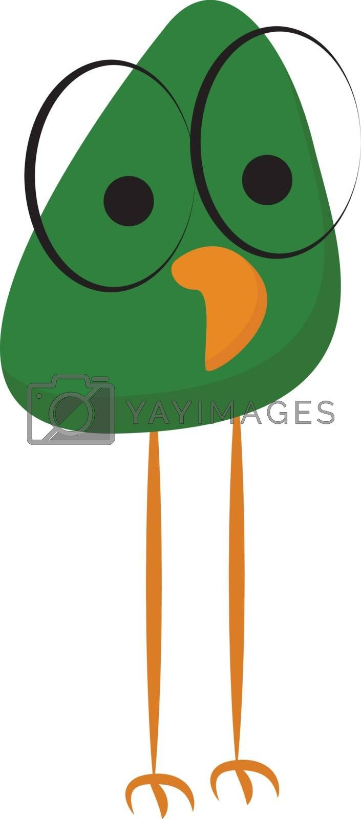 Royalty free image of Cartoon bird with spectacles that has no bridge temple and frame by Morphart