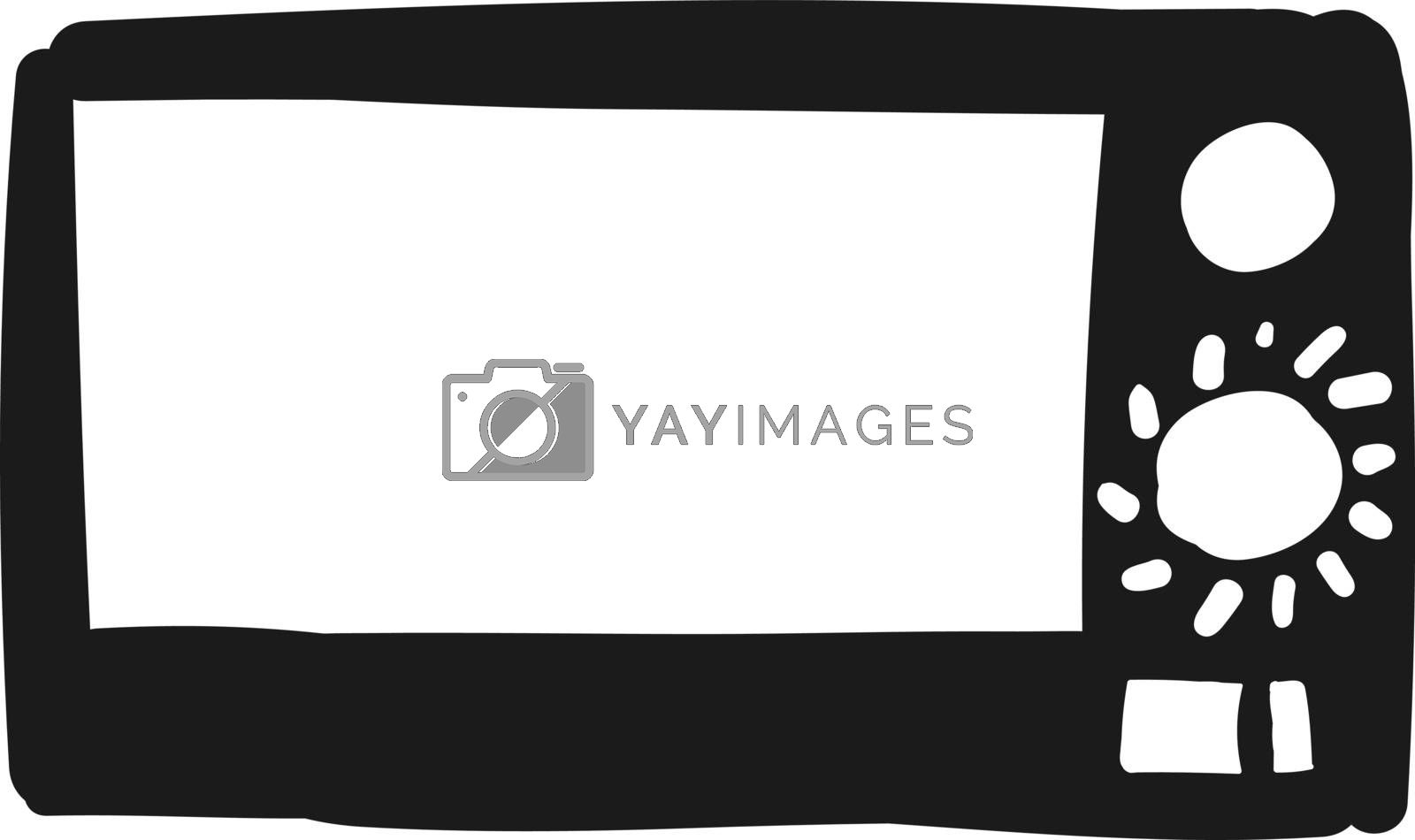 Royalty free image of Drawing of a black-colored microwave oven vector or color illust by Morphart