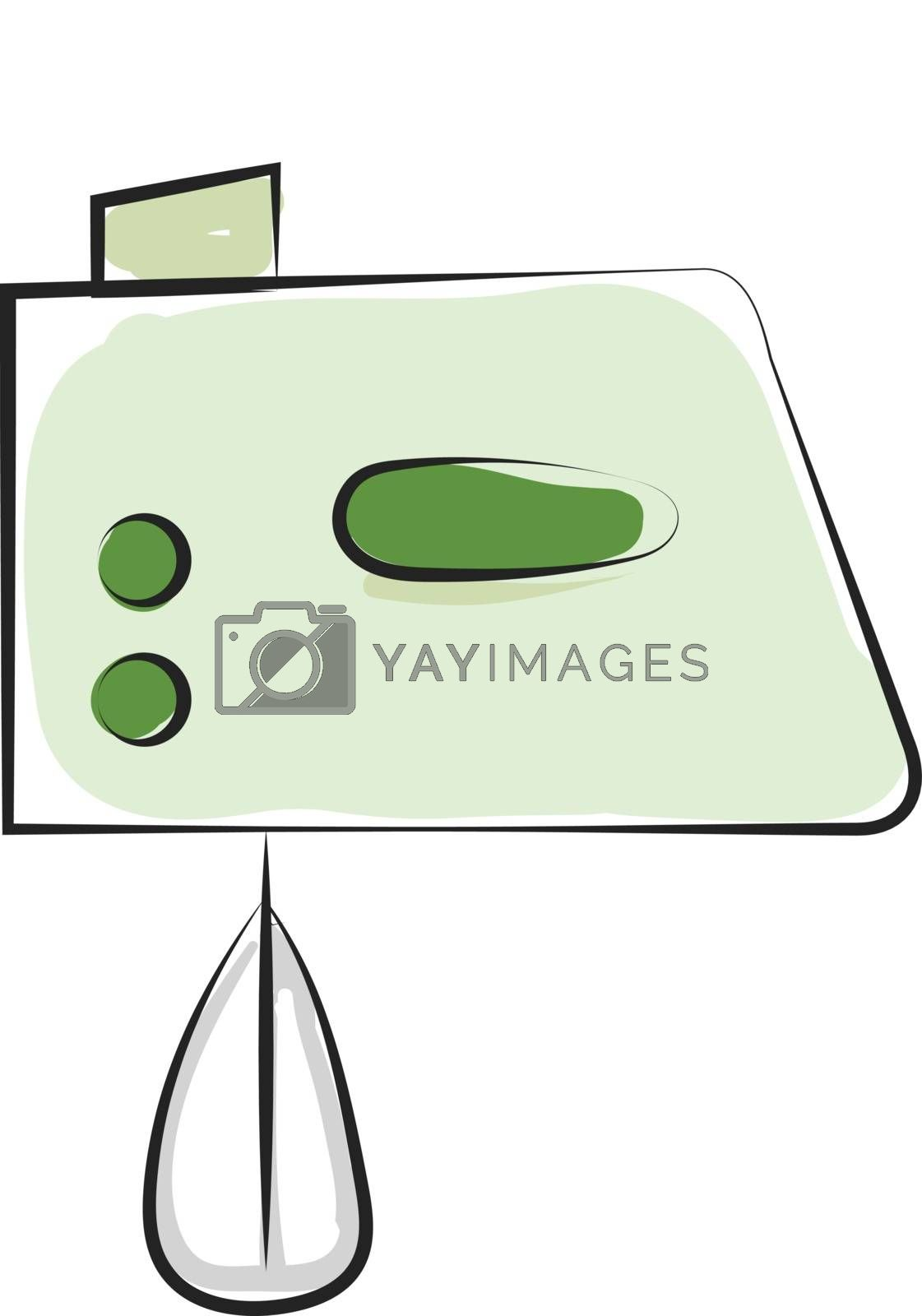 Royalty free image of Drawing of an electric egg beater in green color/Hand blender/Mi by Morphart