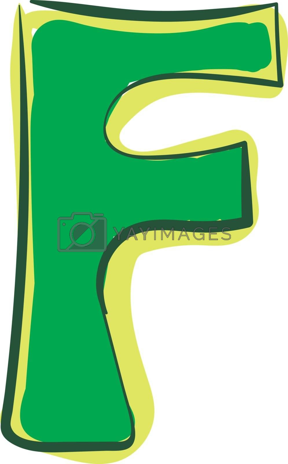Royalty free image of Letter F alphabet vector or color illustration by Morphart