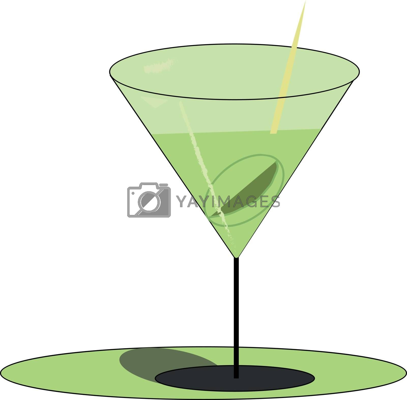 Royalty free image of Green-colored martini drink filled in elegant party glassware ve by Morphart