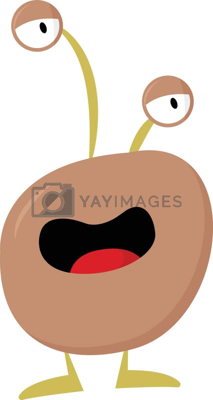 Royalty free image of Cartoon funny monster with two bulging eyes vector or color illu by Morphart