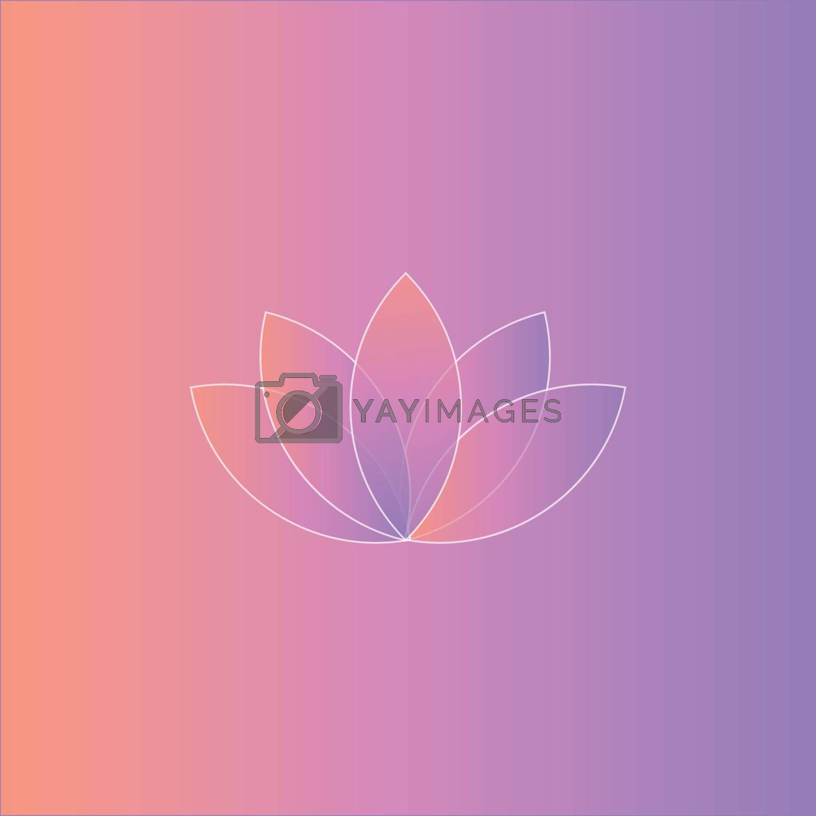 Royalty free image of Portrait of a white lotus over a pink gradient background vector by Morphart