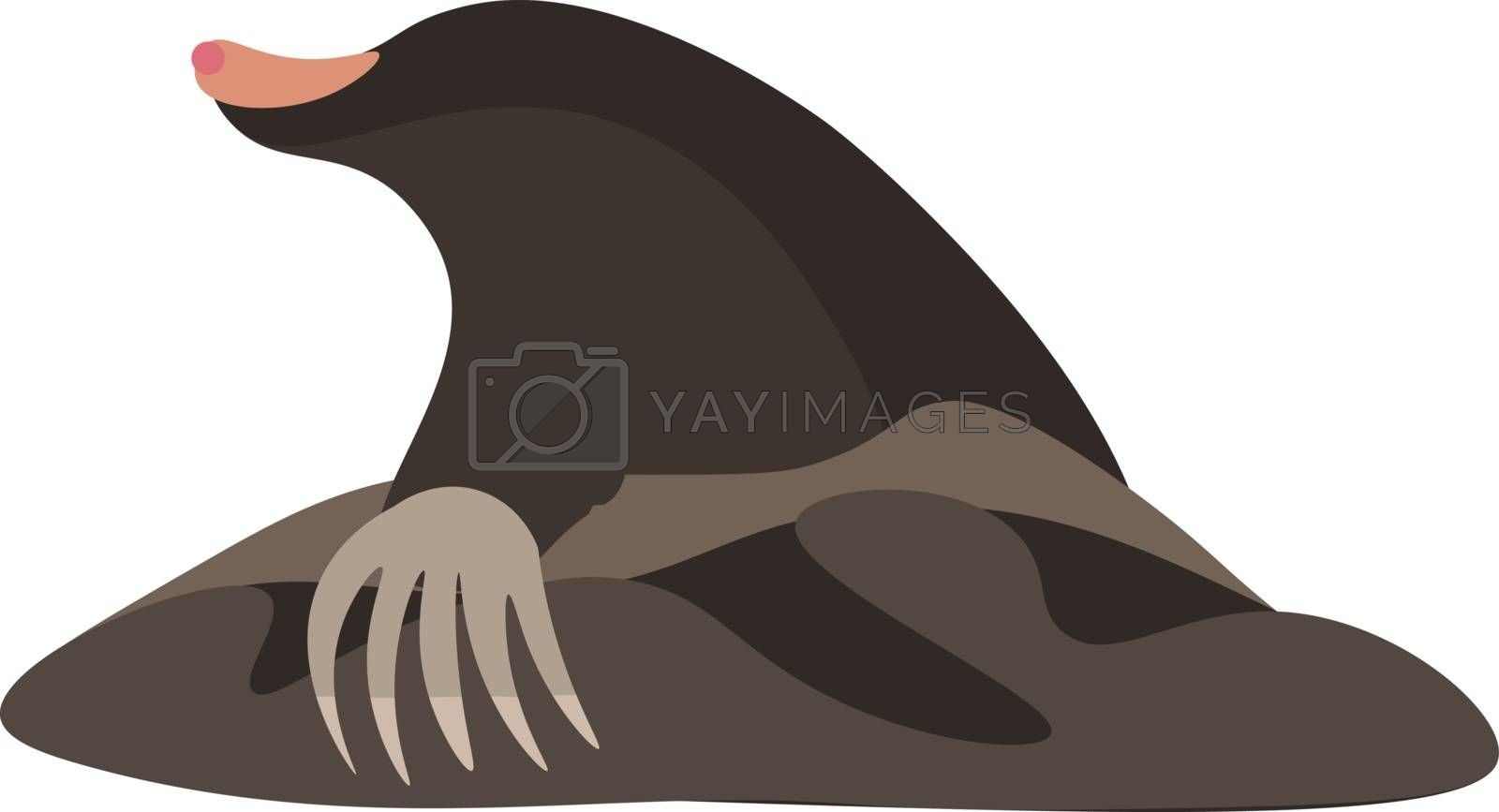 Royalty free image of Clipart of the mammal mole vector or color illustration by Morphart