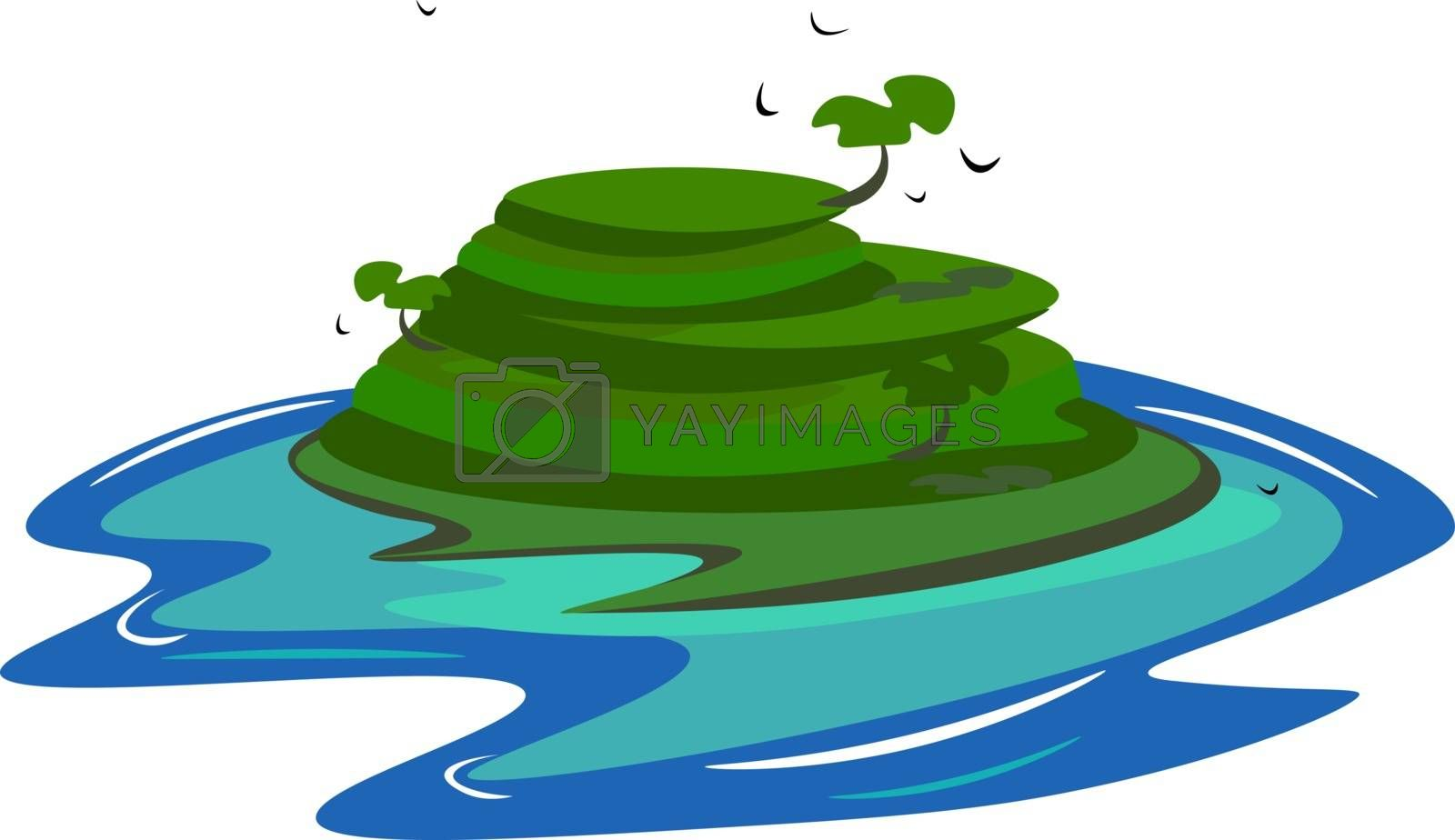Royalty free image of Painting of an island vector or color illustration by Morphart