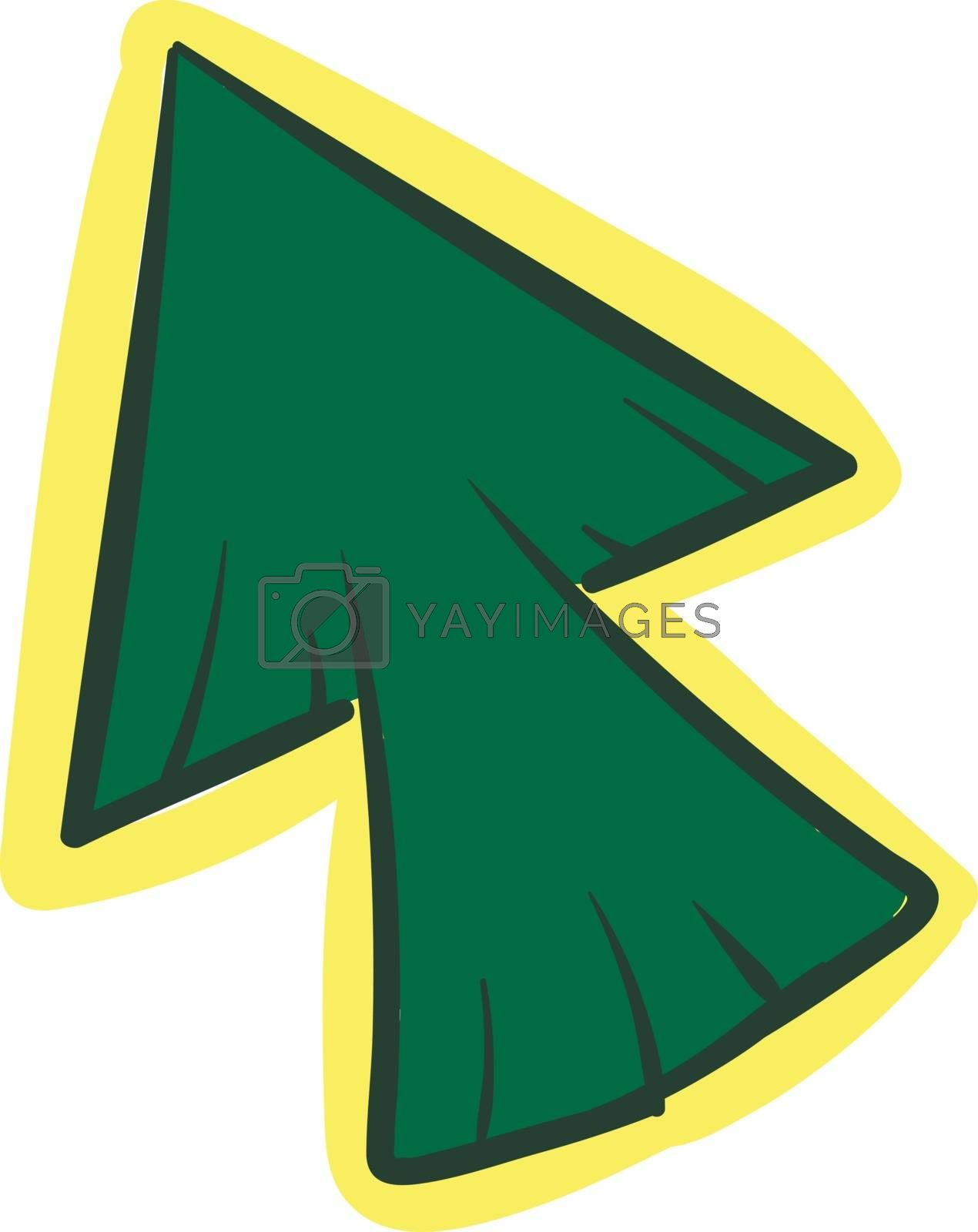 Royalty free image of A green arrow click cursor mouse pointer icon/Long green arrow u by Morphart