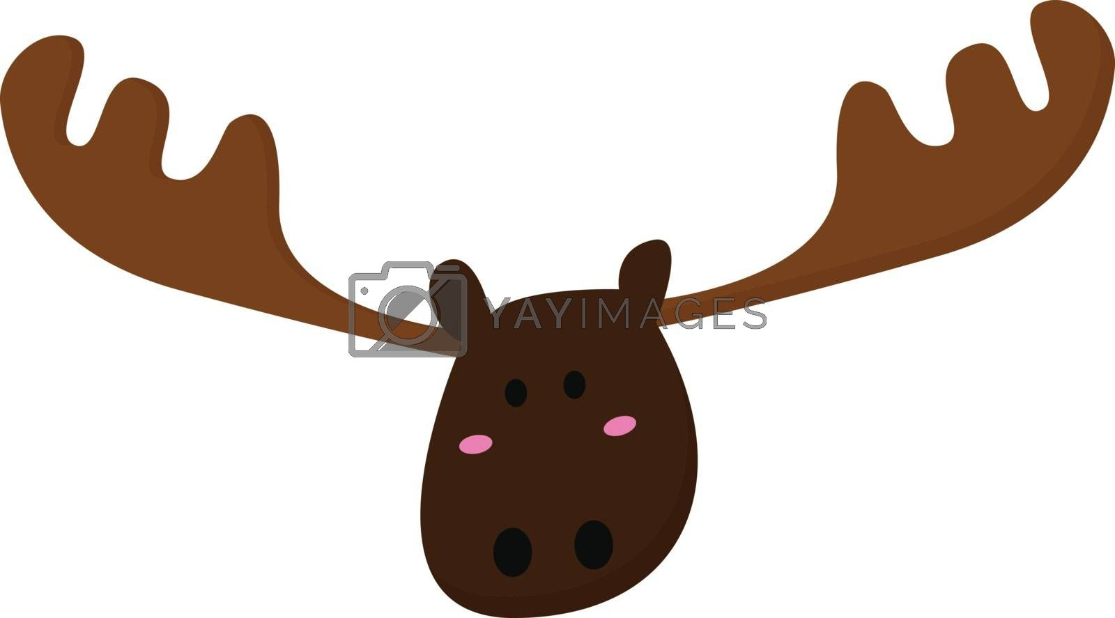 Royalty free image of Emoji of a moose/Cartoon deer vector or color illustration by Morphart