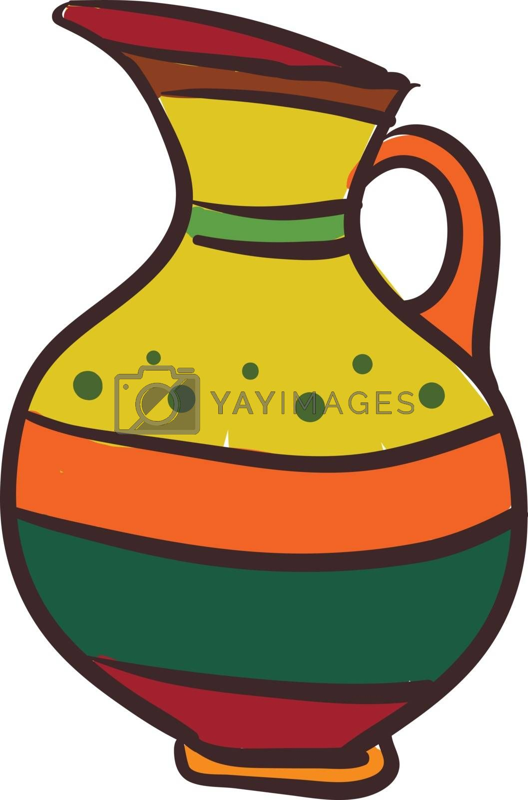 Royalty free image of Painting of a multi-colored pitcher a large jug vector or color  by Morphart