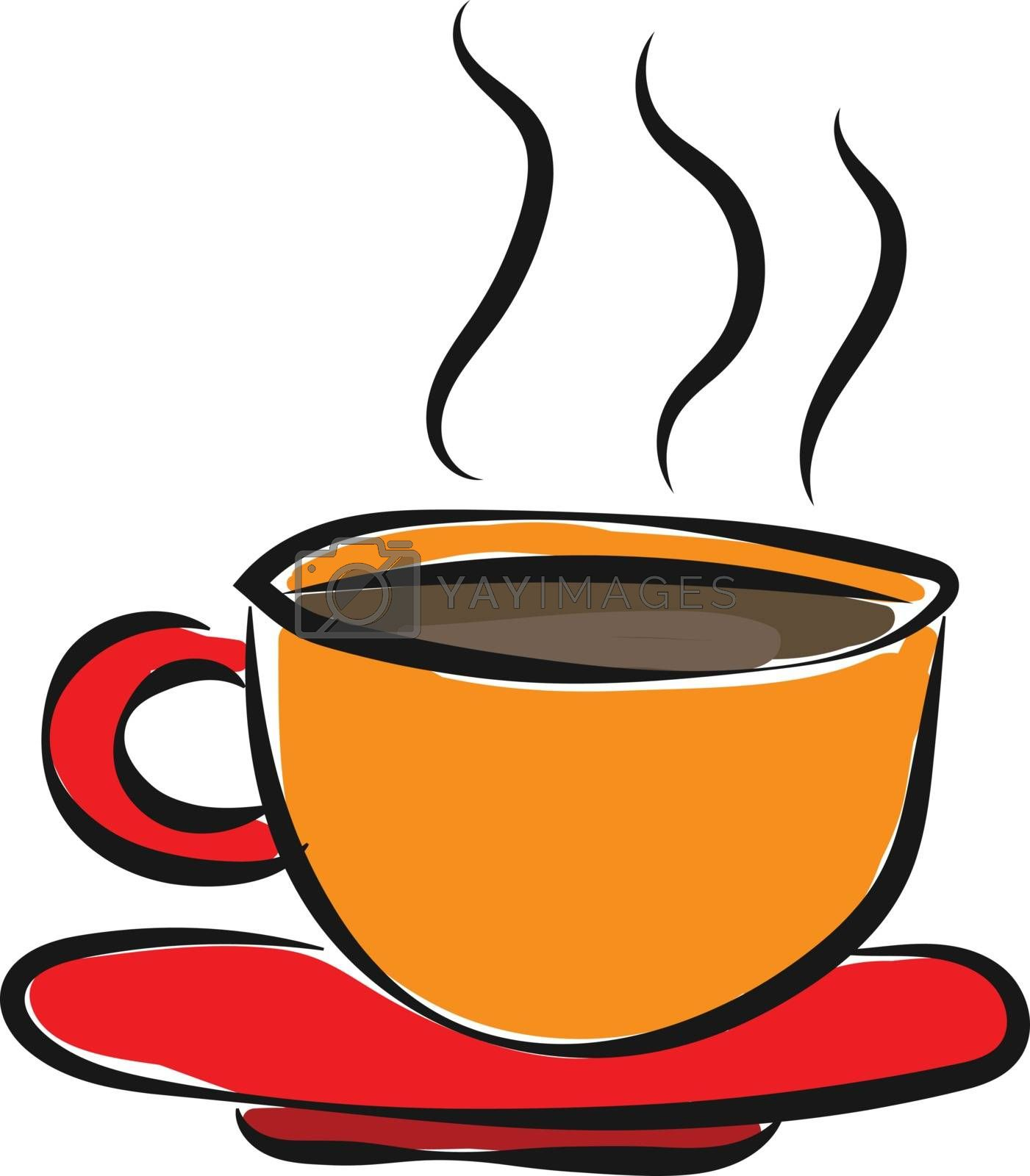 Royalty free image of Evening coffee time/Coffee cup with steaming hot coffee vector o by Morphart