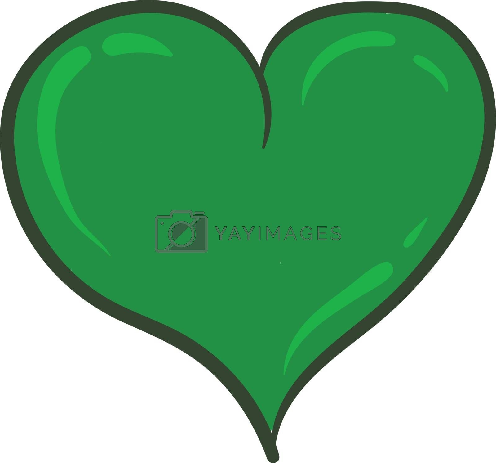 Royalty free image of Clipart of a curvy green heart vector or color illustration by Morphart